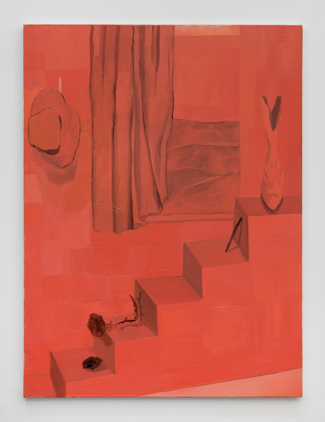 ♥ Allison Katz,  Untitled  , 2013   Acrylic on canvas   154 x 114 cm / 66.6 x 44.8 in OLGA BALEMA  DAVID DOUARD  ALLISON KATZ  BRADLEY KRONZ  TOM HUMPHRIES  HAN-CHRISTIAN LOTZ  LAURE PROUVOST
