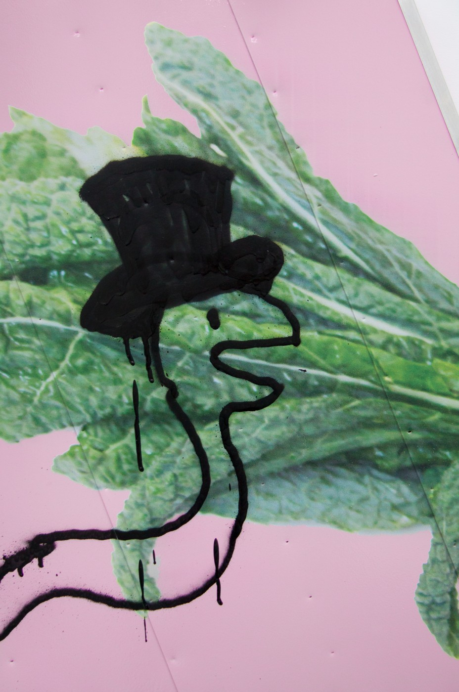 Wind Parade  Box Truck Painting (Kale)</I>, 2014 (detail)  Pentti Monkkonen