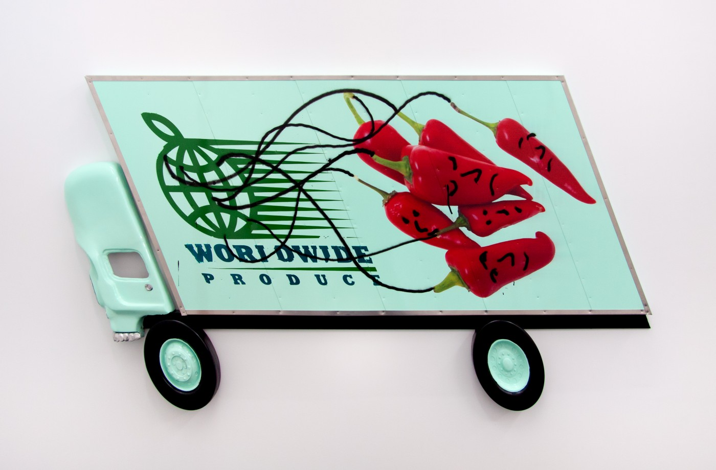 Wind Parade  Box Truck Painting (Red Peppers) , 2014  