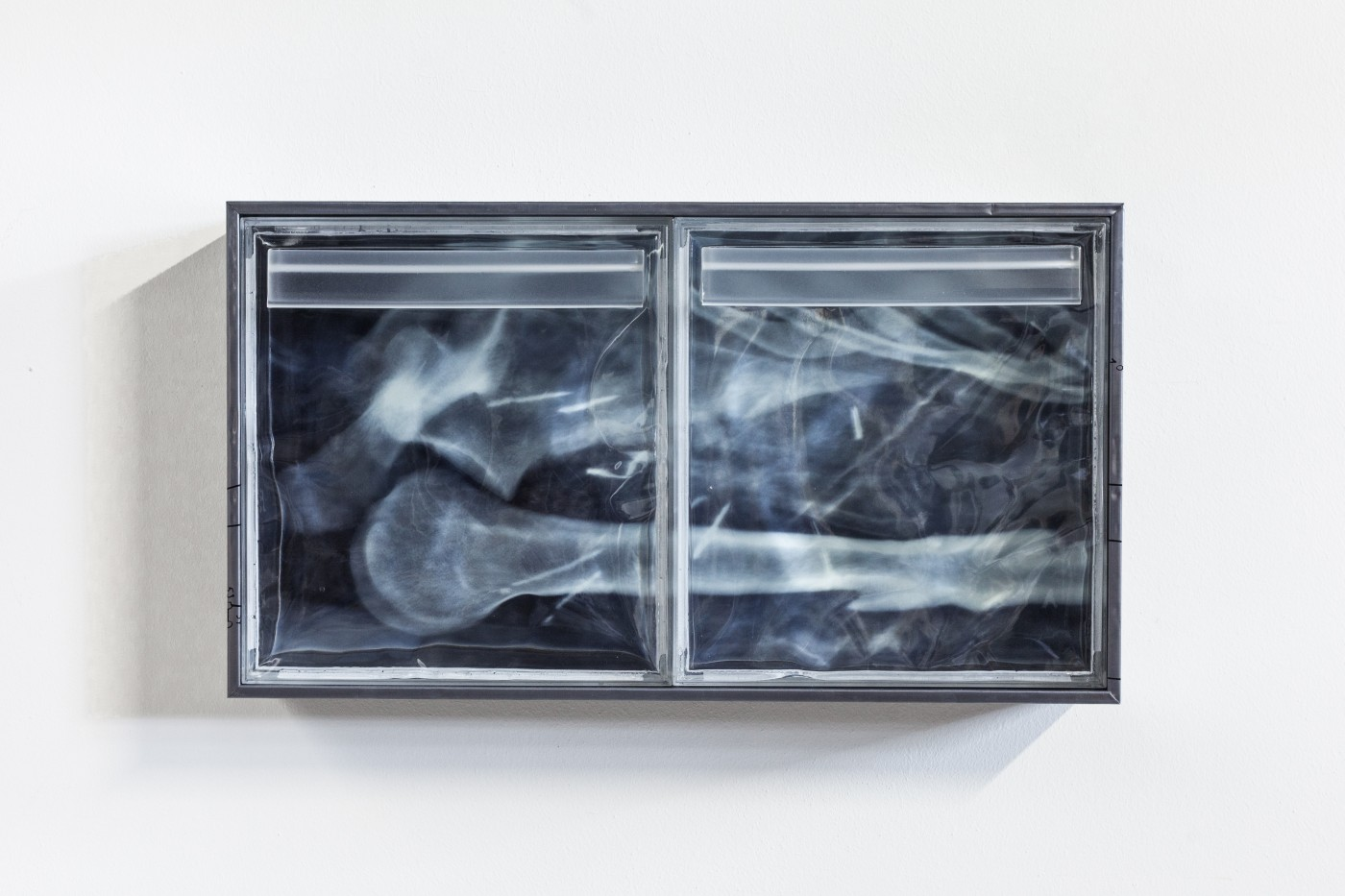 DEPOSIT  Deposits (palace of toil)</I>, 2015 Silkscreen on lead, inkjet print on acetate, UV resistant epoxy resin, aluminium panel 76 x 43 x 14 cm / 29.9 x 16.9 x 5.5 in   COOPER JACOBY