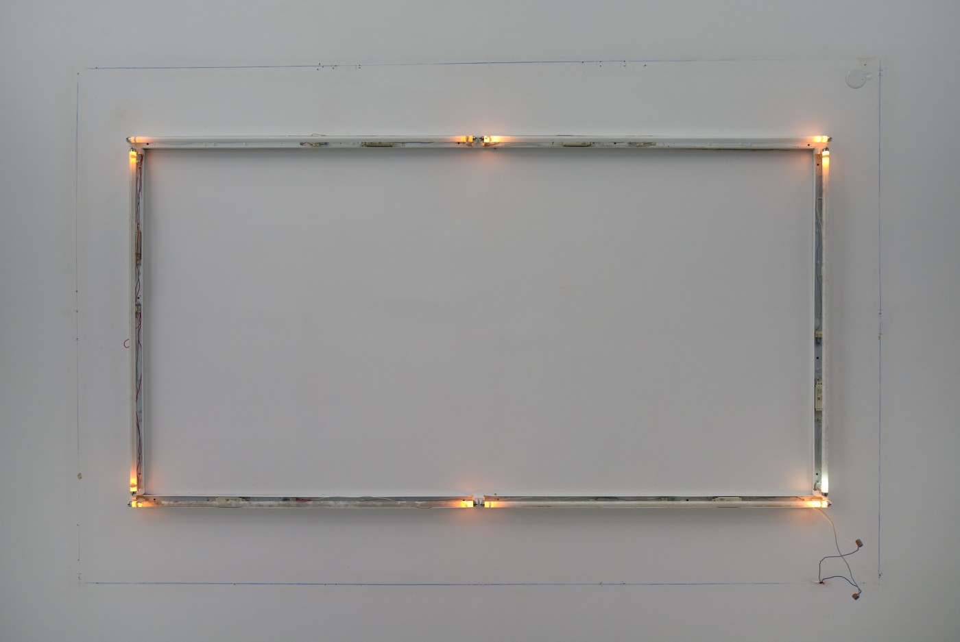 DEPOSIT  EOL</I>, 2015 Six burnt-out fluorescent lights and fixtures Variable dimensions