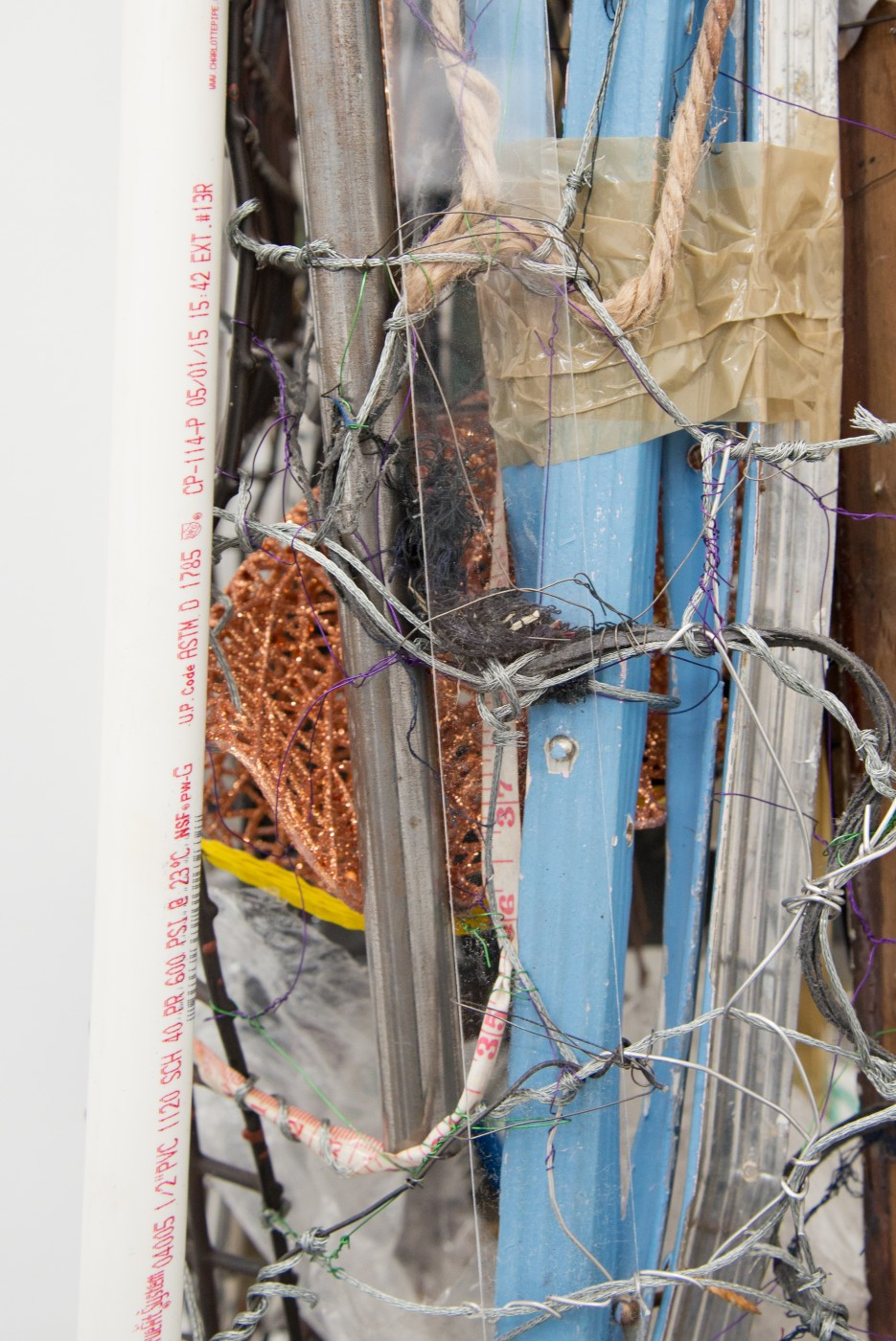 METROPOLITAN  Nocturnal Digest</I>, 2015 (detail) Mixed media 97 x 29 x 42 cm / 38.2 x 11.4 x 16.5 in