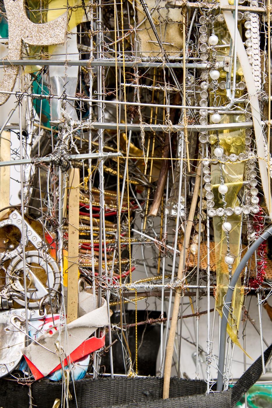 METROPOLITAN  Passion Avenue</I>, 2015 (detail) Mixed media 80 x 67 x 22 cm / 31.5 x 26.3 x 8.6 in  ROBERT BITTENBENDER