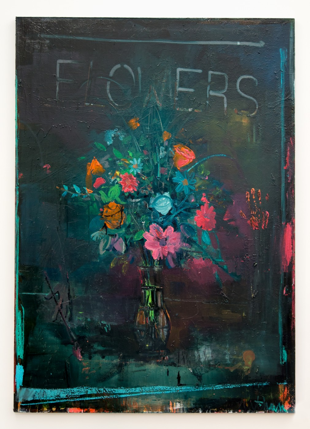 Chasser le dragon Nathan Zeidman  Flowers (light out)</I>, 2015 Oil on Canvas 180 x 127 cm / 70.9 x 50 in