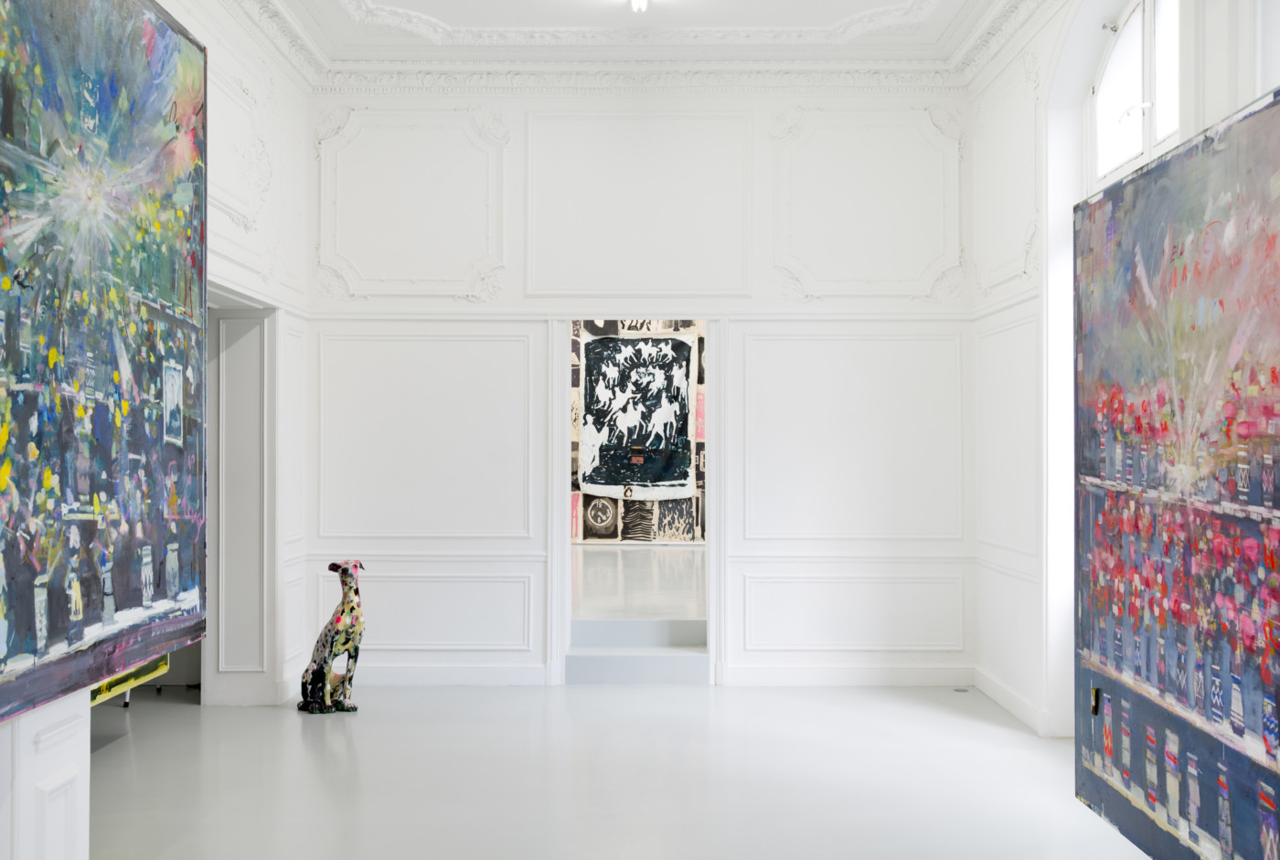 NATHAN ZEIDMAN  walflowers, malflowers , 2018, High Art, Paris, installation view - High Art Gallery Paris