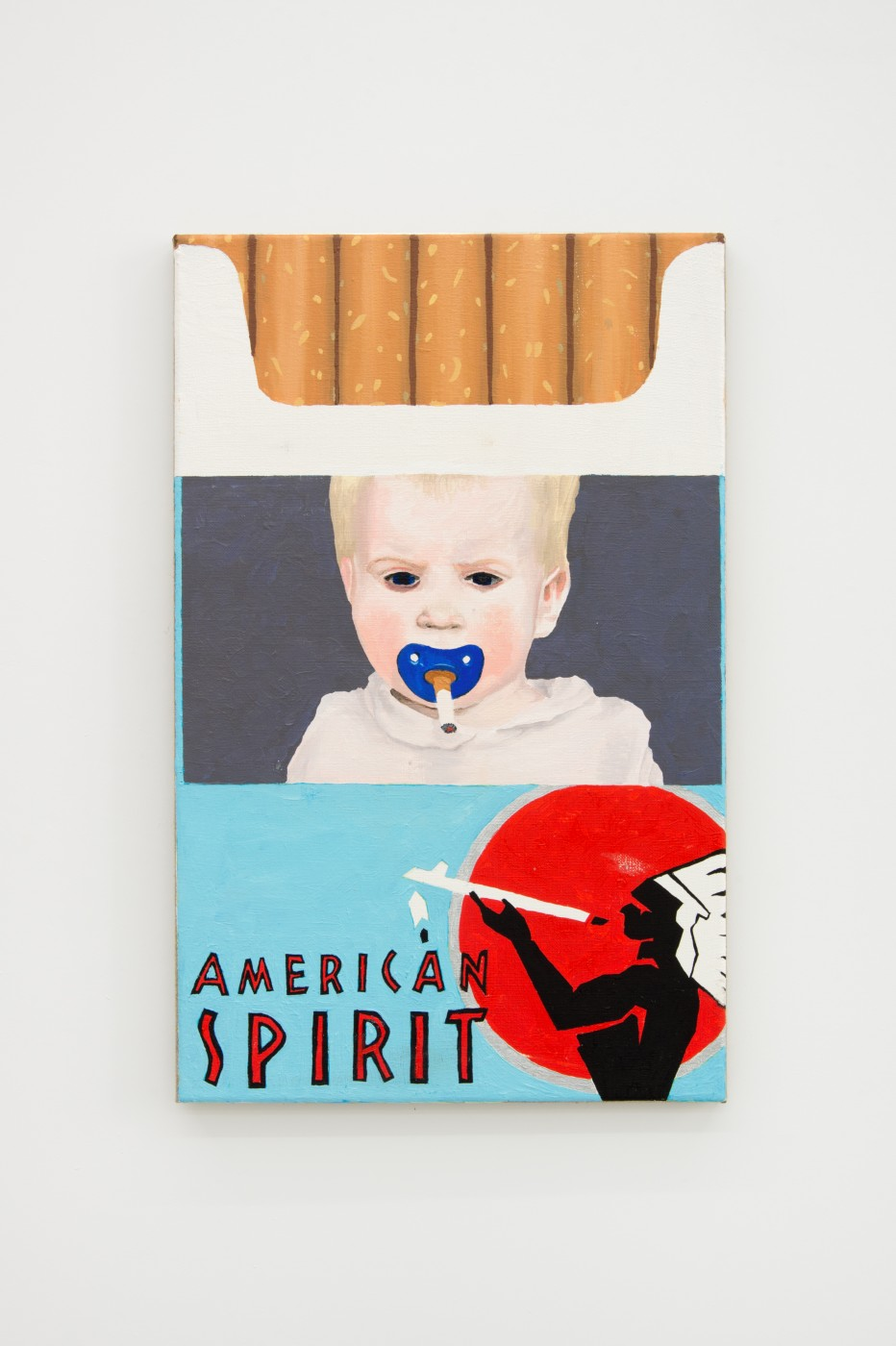V.S.O.P.  American Spirit</I>, 2017 Oil on linen 60 x 38 cm / 23.6 x 14.9 in  PENTTI MONKKONEN