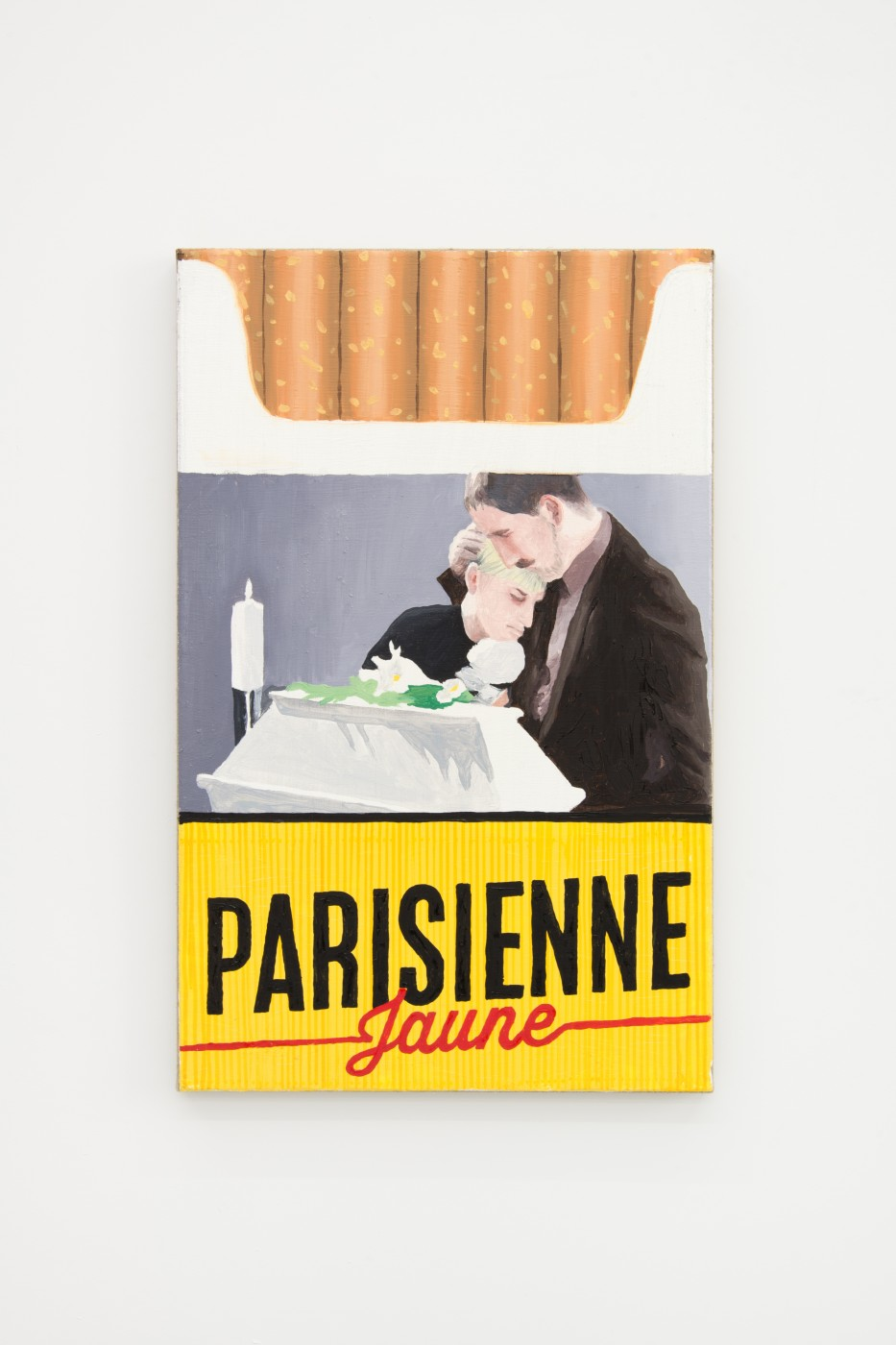 V.S.O.P.  Parisienne Jaune</I>, 2017 Oil on linen 60 x 38 cm / 23.6 x 14.9 in  PENTTI MONKKONEN