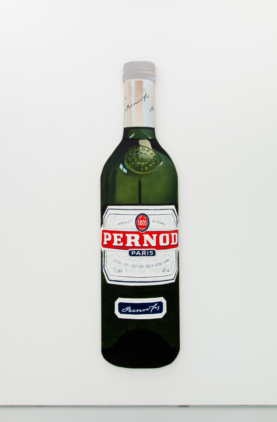 V.S.O.P.  Pernod</I>, 2017 Oil on linen stretched onto shaped wood board 206,5 x 52,5 cm / 81.3 x 20.7 in  PENTTI MONKKONEN