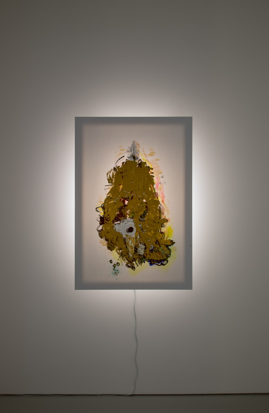 GOLD  Chandelier</I>, 2017 Acrylic and inkjet on vinyl, plastic, polystyrene, wood, steel, LED light 108,5 x 73 x 21 cm / 42.7 x 28.7 x 8.2 in  JOHN RUSSELL