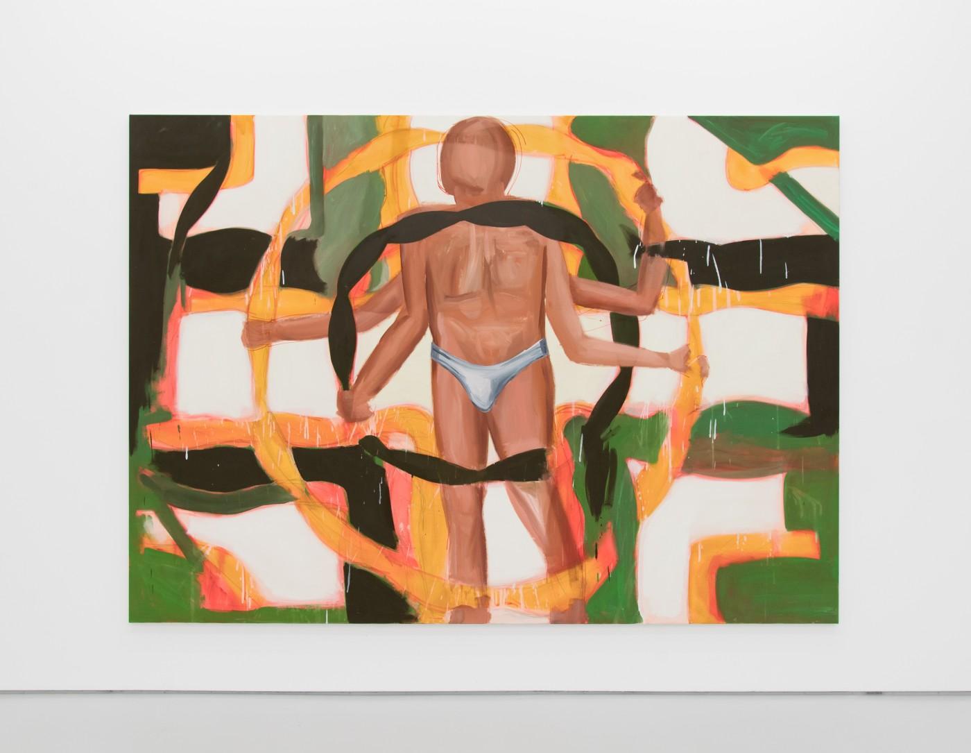 TOM HUMPHREYS  End of Man</I>, 2018 Acrylic on canvas 200 × 280 cm / 78.7 × 110.2 in