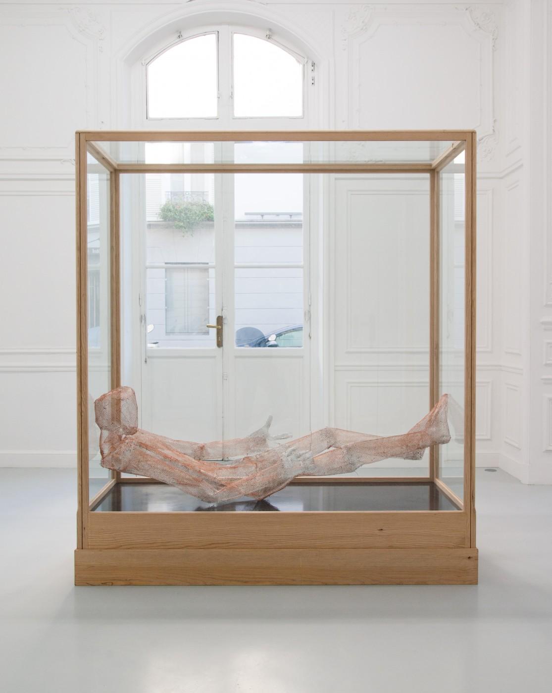 TOM HUMPHREYS  Figure Rouge</I>, 2018 Metal, paint, glass, wood 201 x 179 x 73 cm / 79.1 x 70.4 x 28.7 in