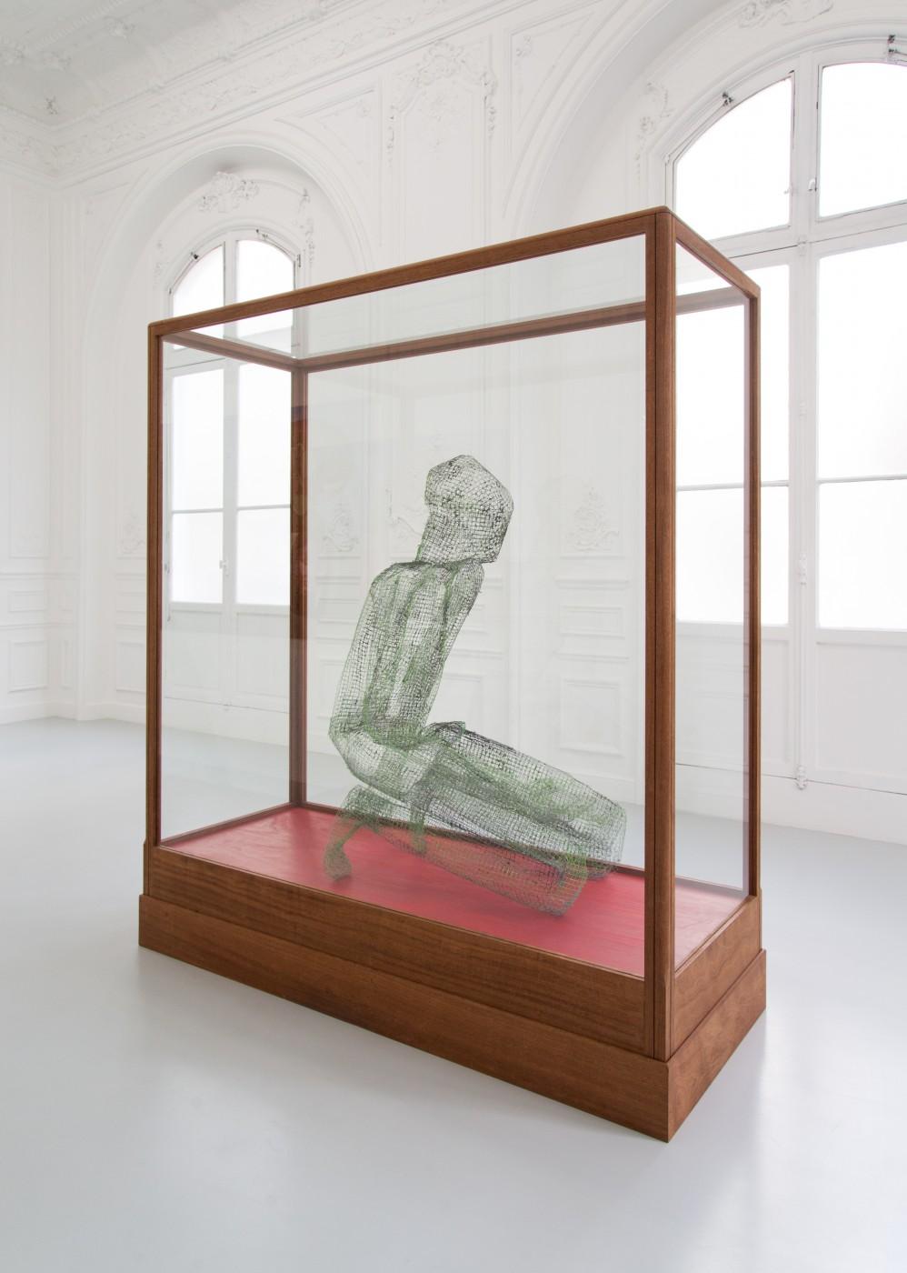 TOM HUMPHREYS  Figure Verte</I>, 2018 Metal, paint, glass, wood 201 x 179 x 73 cm / 79.1 x 70.4 x 28.7 in