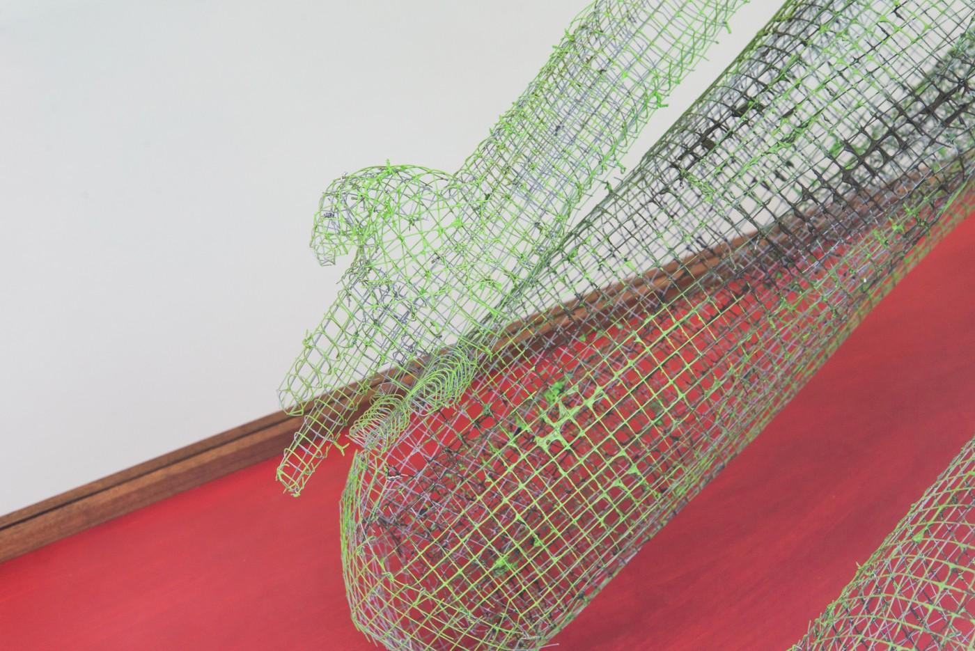 TOM HUMPHREYS  Figure Verte</I> (detail), 2018 Metal, paint, glass, wood 201 x 179 x 73 cm / 79.1 x 70.4 x 28.7 in