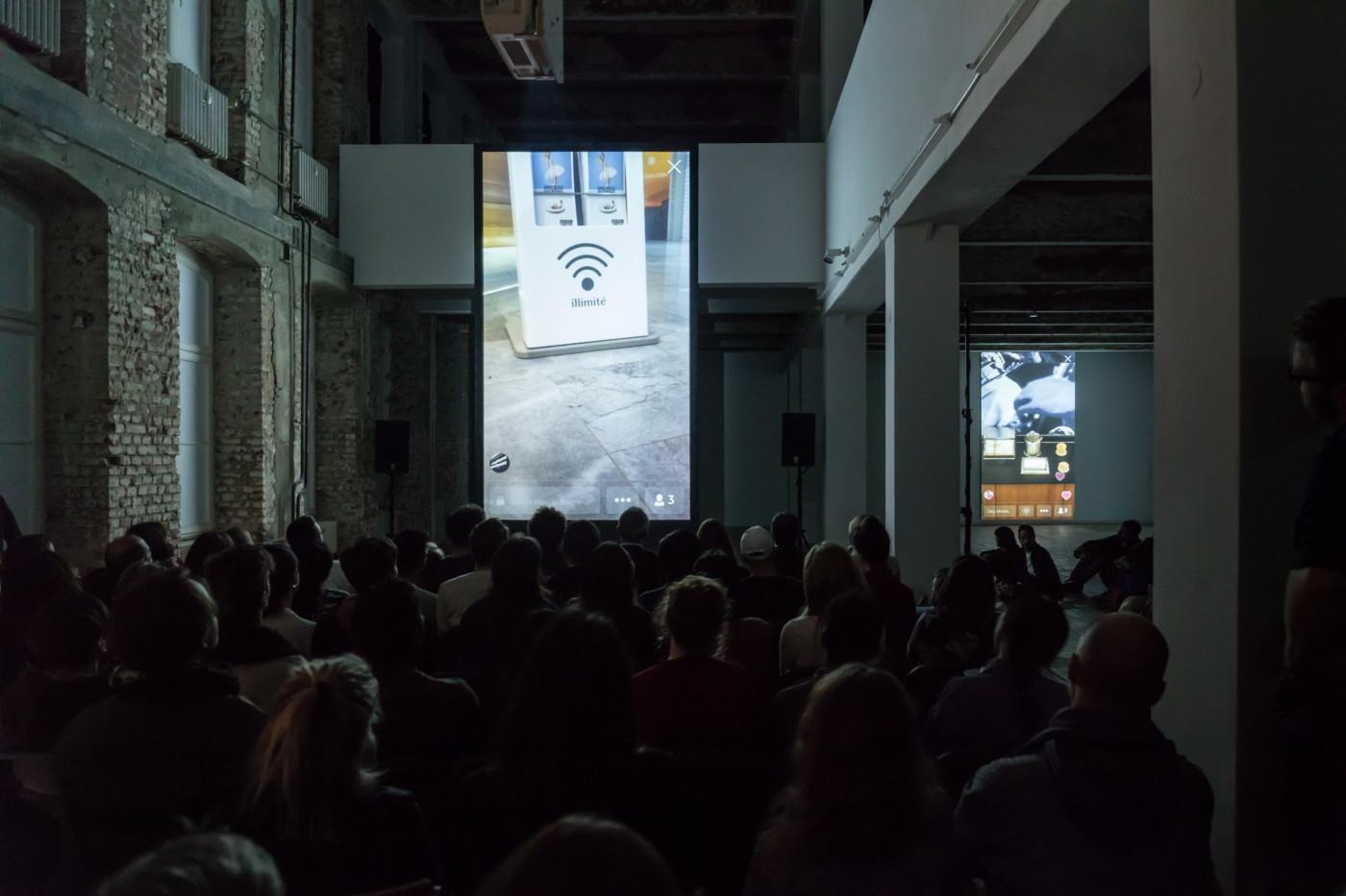 NINA KÖNNEMANN  Free Wifi 3 , 2017, KW Institute for Contemporary Art, Berlin, installation view - High Art Gallery Paris