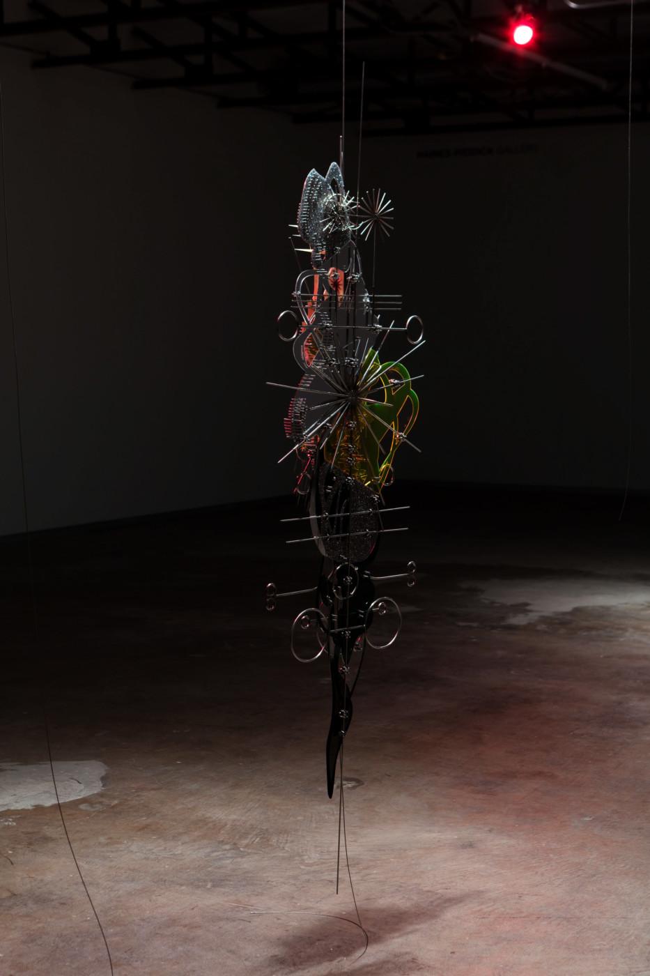 VALERIE KEANE  Prosthetic God , 2018 Acrylic, stainless steel Variable dimensions - High Art Gallery Paris