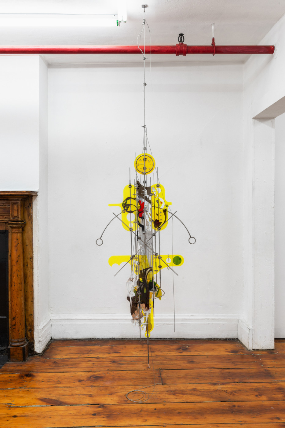 VALERIE KEANE  Existence Machine (Desire Pact) , 2019 Acrylic, stainless steel 160 x 58,4 cm / 63 x 27 in - High Art Gallery Paris
