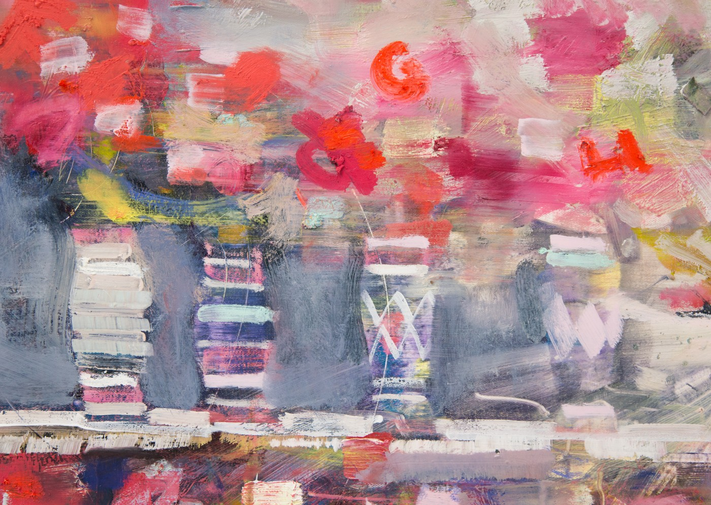 WALLFLOWERS, MALFLOWERS  Daybreak #5  (detail), 2018 
