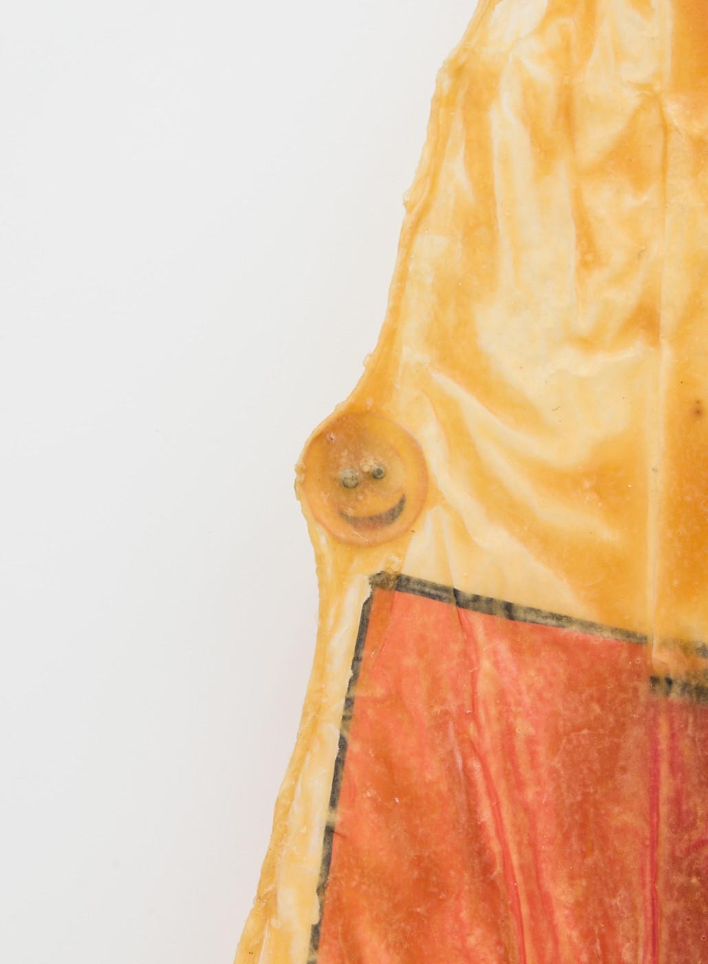 DEEPER THAN INSIDE Olga Balema  Untitled</I> (detail), 2014 UV print on plastic, paper, latex 146 x 79 cm / 57.5 x 31.1 in Theodora Allen  Olga Balema  Adam Gordon  Tom Humphreys  Dawn Mellor  Ragen Moss  Rolf Nowotny  Benjamin Reiss  Dylan Vandenhoeck