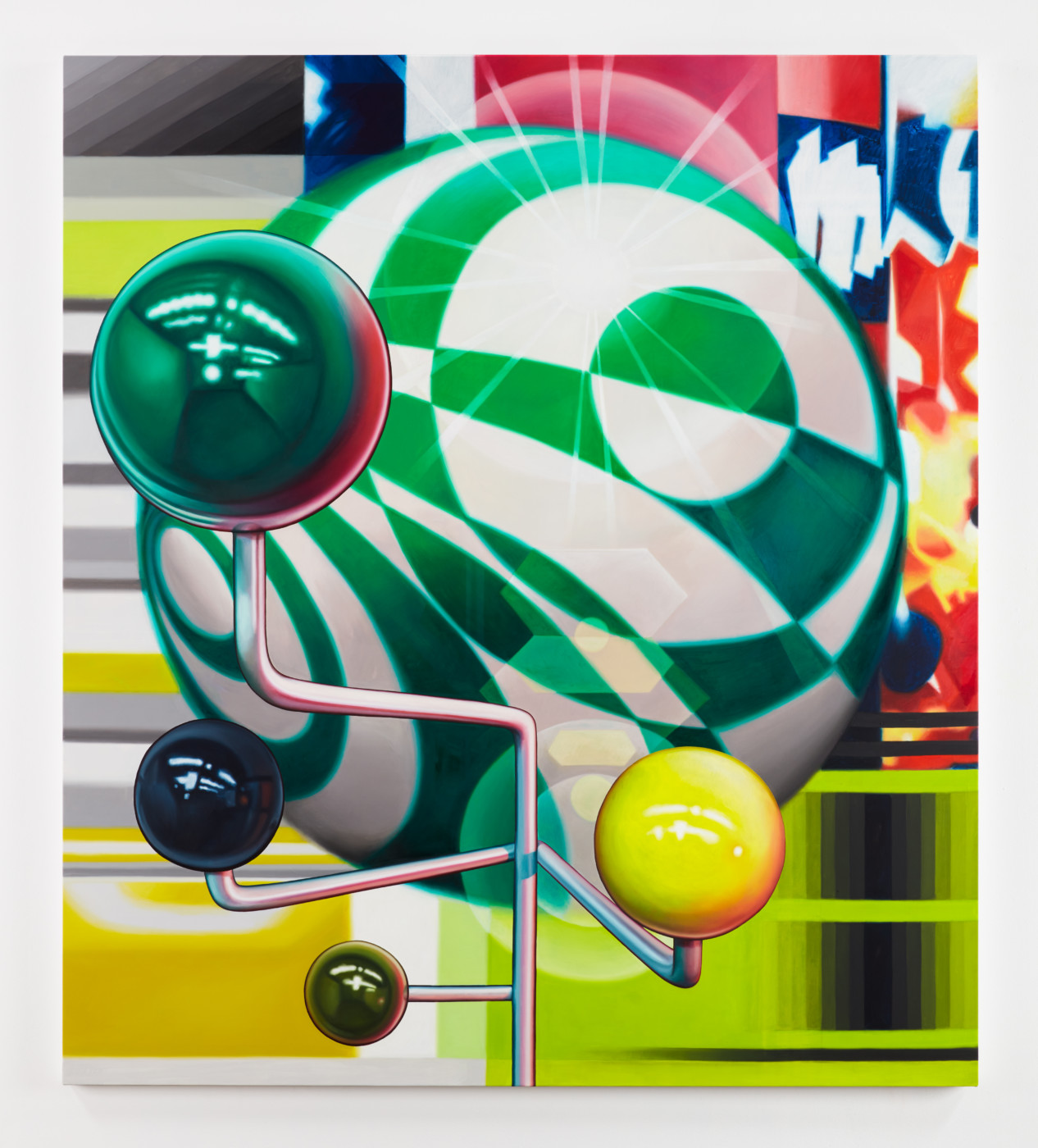 TÊTE  Assembly</I>, 2019 Oil on canvas 182.9 x 162.6 cm / 72 x 64 in  ORION MARTIN