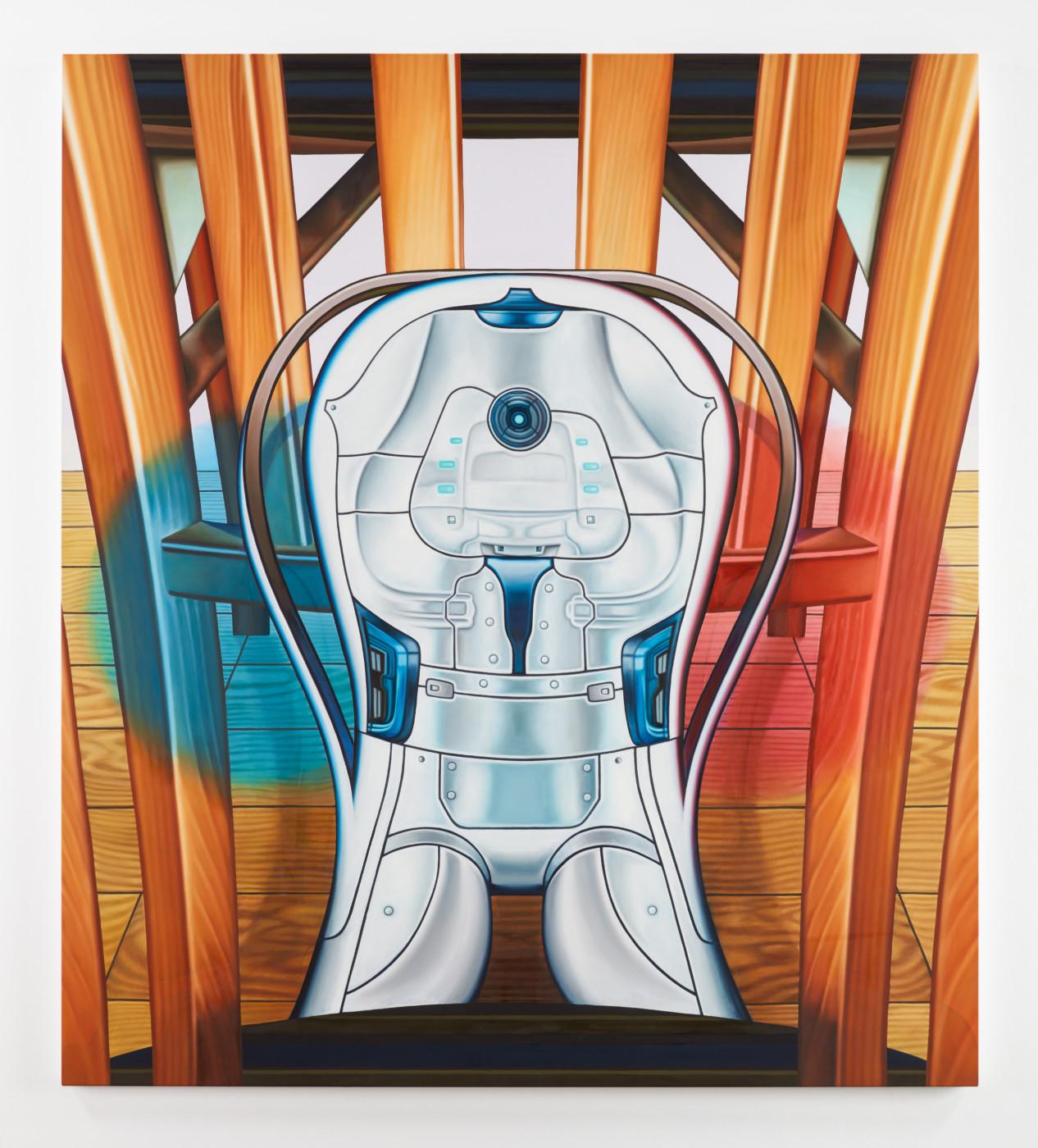 TÊTE  Hangar</I>, 2019 Oil on canvas 182.9 x 162.6 cm / 72 x 64 in  ORION MARTIN