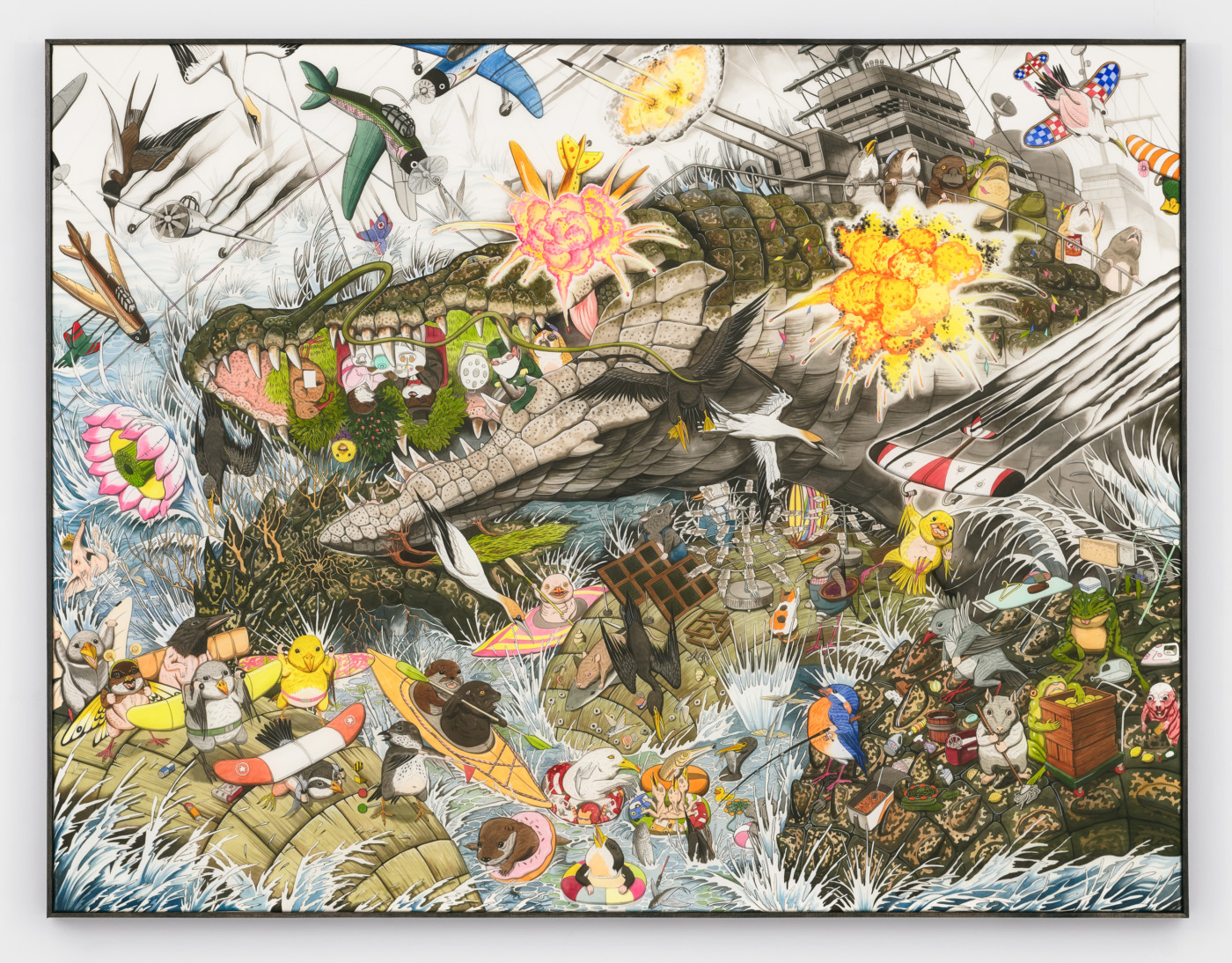 HUN KYU KIM  Symbiotic Wind , 2019 Pigment on silk 130 x 100 x 2.5 cm / 51.2 x 39.4 x 1 in  - High Art Gallery Paris