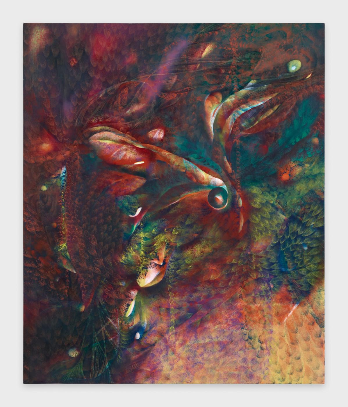 LUCY BULL  Light Rain , 2019 Oil on linen 152,5 x 127 x 4 cm / 60 x 50 x 1.5 in - High Art Gallery Paris