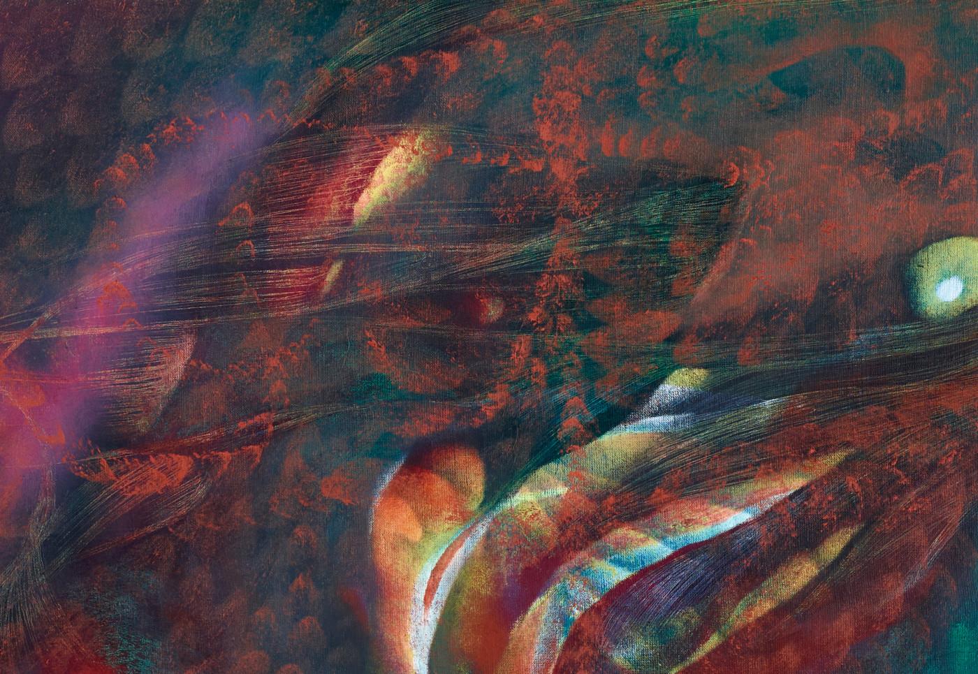LUCY BULL  Light Rain  (detail), 2019 Oil on linen 152,5 x 127 x 4 cm / 60 x 50 x 1.5 in - High Art Gallery Paris