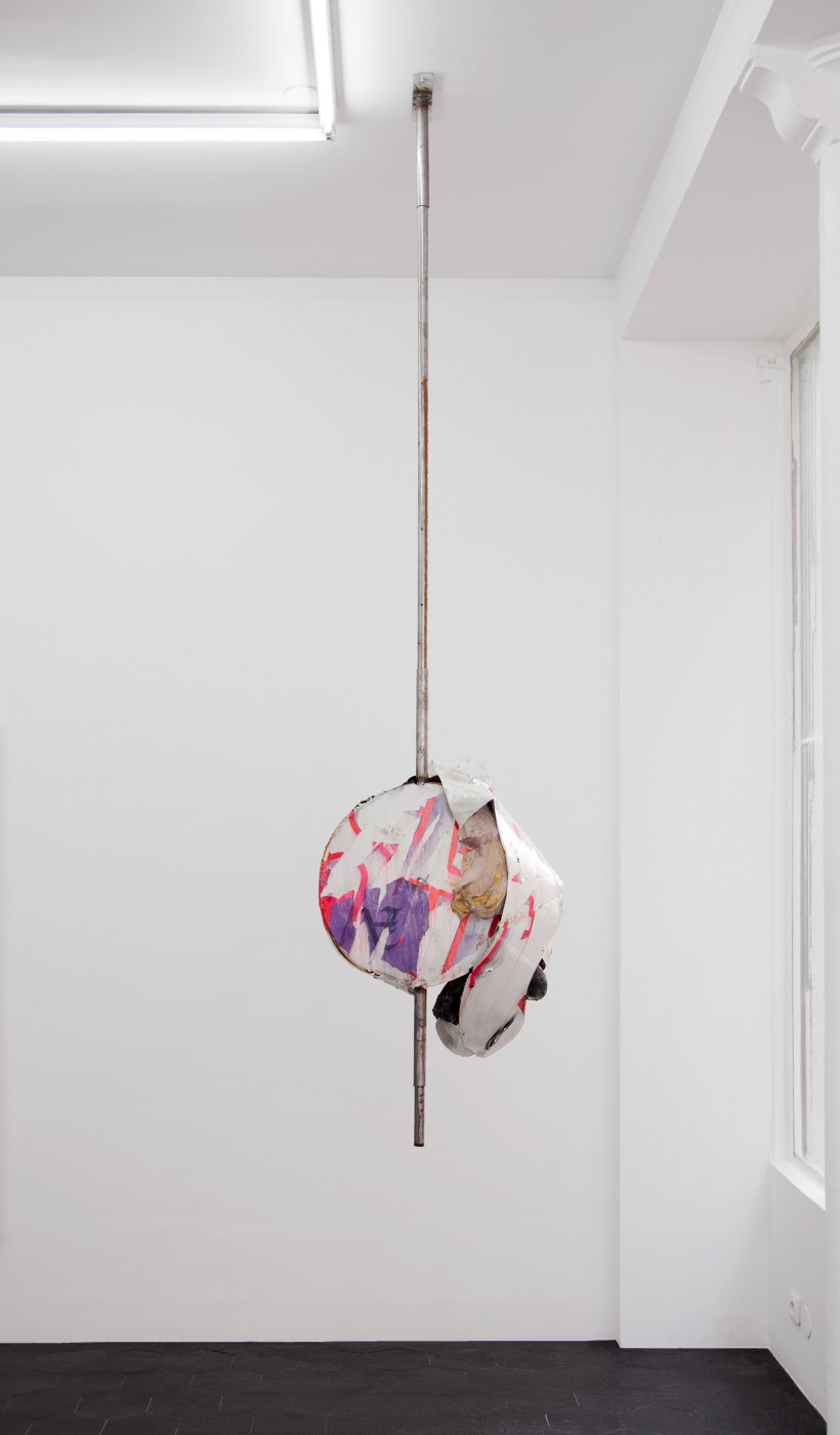 ♥ David Douard,  Glory Hole , 2013   Plaster, resin, wood, steel, paper, plexiglass, milk  