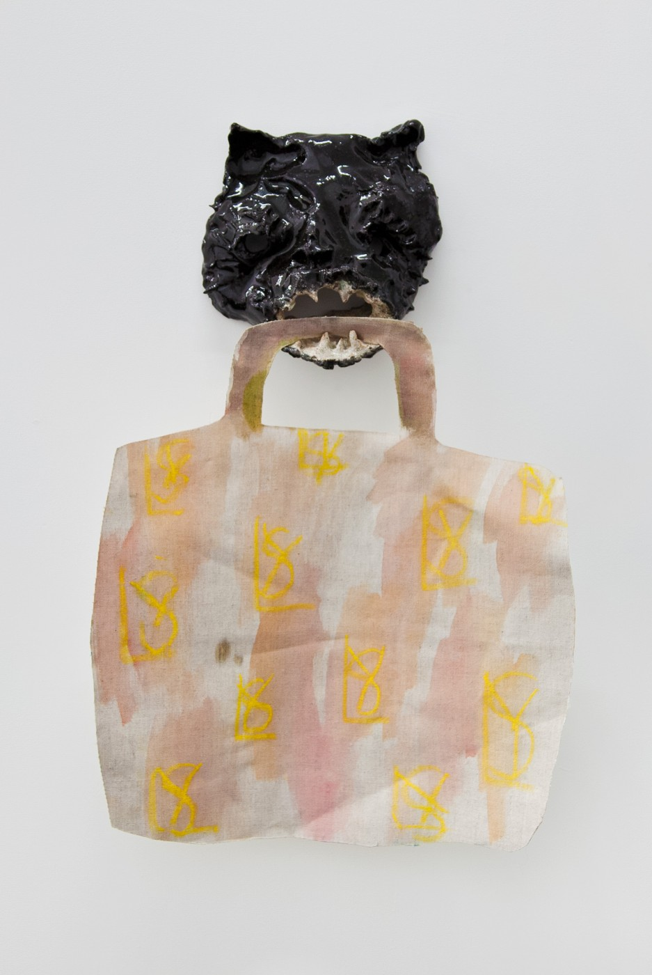 ♥ Laure Prouvost and Tom Humphreys,  Untitled , 2012   Glazed ceramic, acrylic on canvas, metal wire   Variable dimensions OLGA BALEMA 