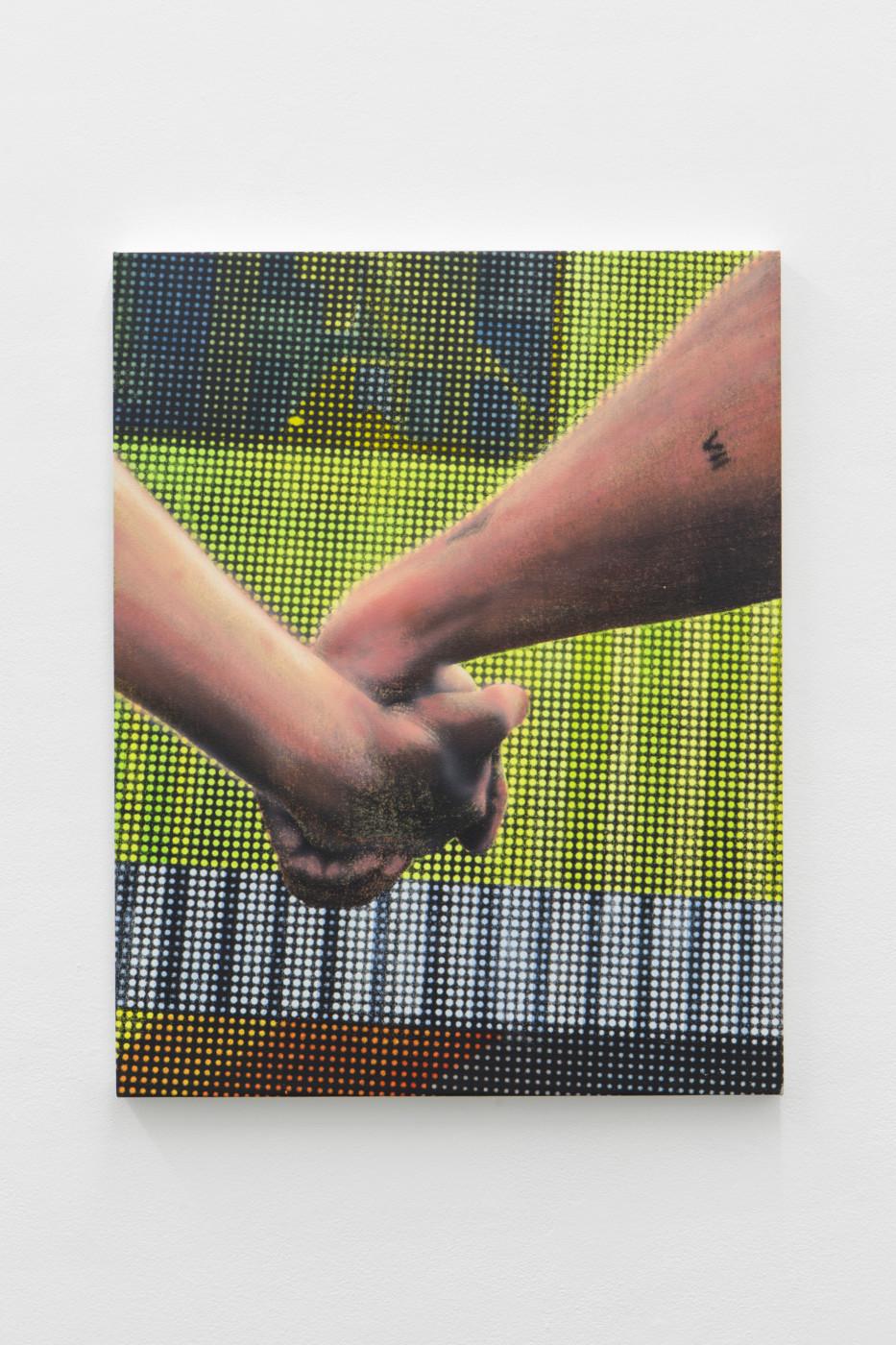 ALAN MICHAEL  Untitled , 2018 Silkscreen and acrylic on canvas 86 x 68 cm / 33.8 x 26.3 in - High Art Gallery Paris