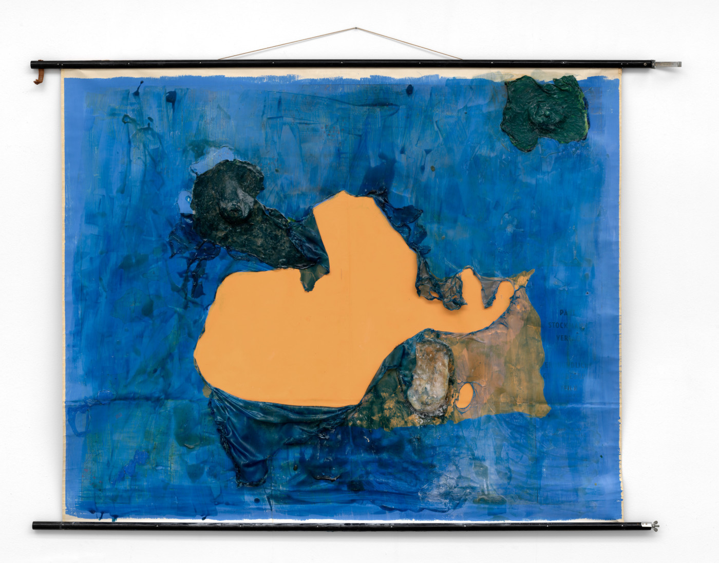 OLGA BALEMA  Failure is the mother of success , 2016 Map, latex, pigment, acrylic paint 135 × 170 × 5 cm / 53.1 × 66.9 × 2 in - High Art Gallery Paris