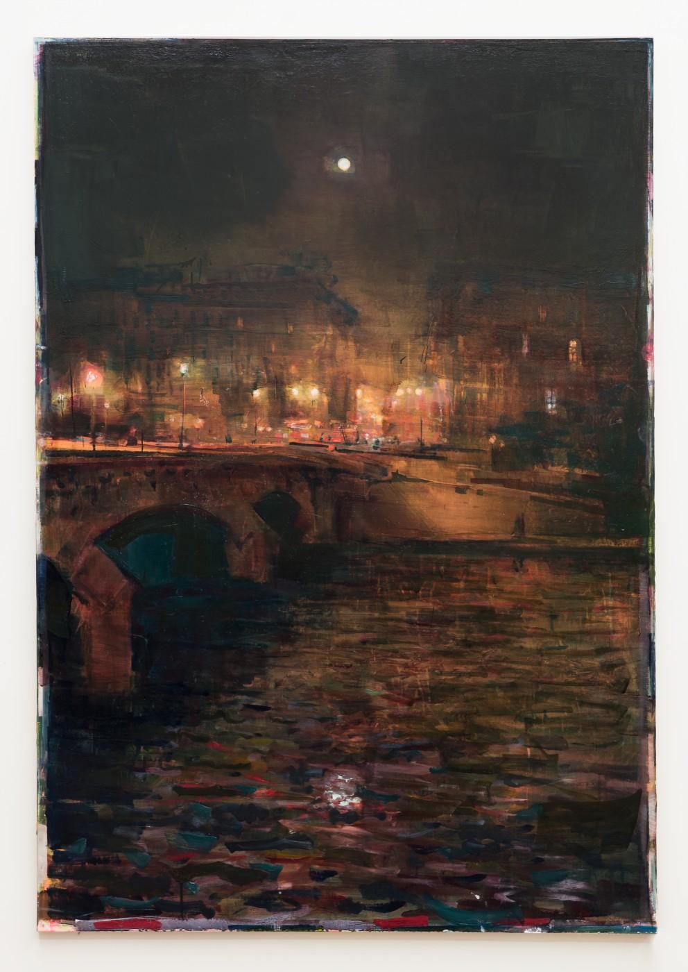 DAY BY DAY  Pont Neuf</I>, 2016  Oil on canvas  183 x 127 cm / 72 x 50 in  NATHAN ZEIDMAN
