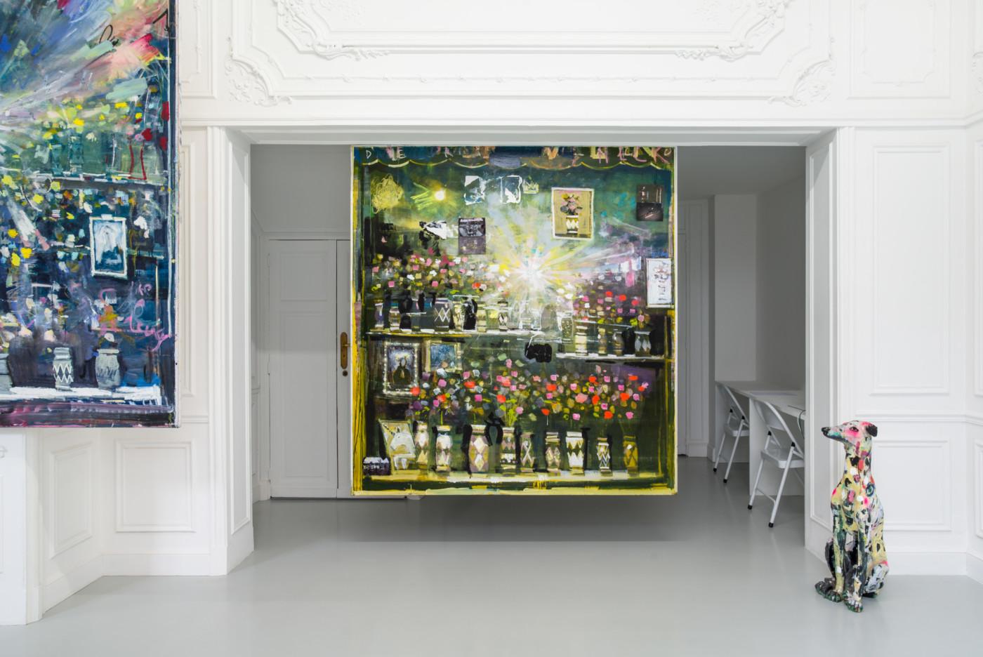 NATHAN ZEIDMAN  walflowers, malflowers , 2018, High Art, Paris, installation view - High Art Gallery Paris