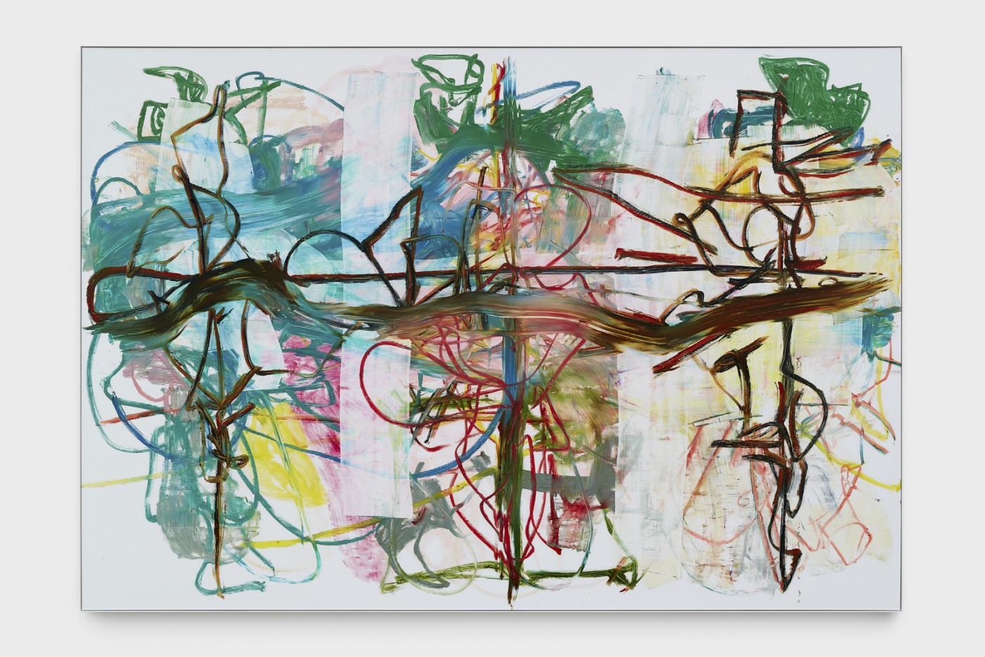 AARON  GARBER-MAIKOVSKA  Performance,  2019 Oil on fluted poly 246,7 x 358,5 x 5,1 cm / 97 1/8 x 141 1/8 x 2 in - High Art Gallery Paris