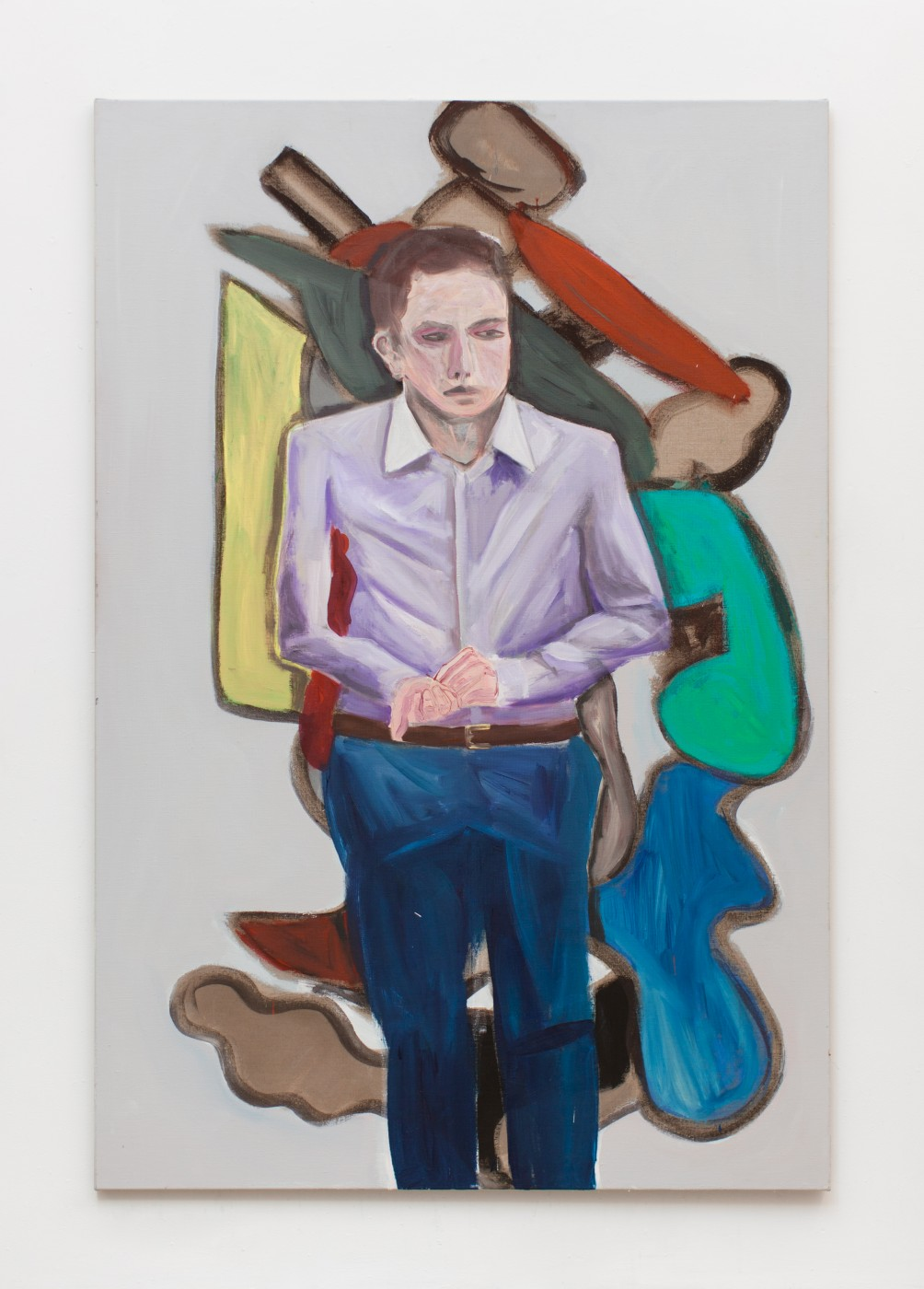TOM HUMPHREYS  Nervous Man</I>, 2018 Acrylic on linen 200 × 135 cm / 78.7 × 53.1 in