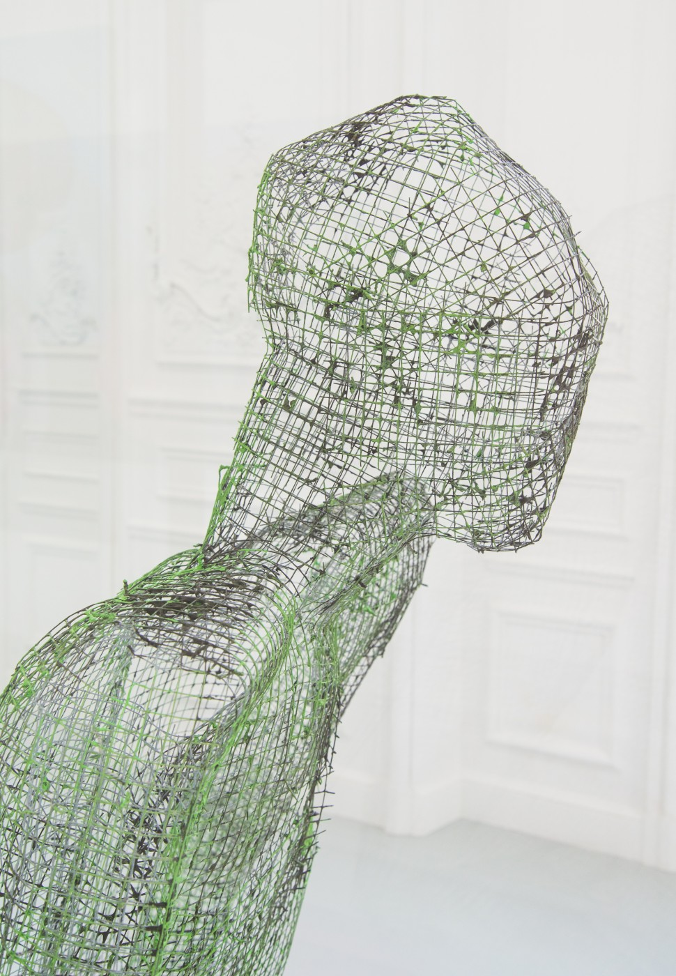 TOM HUMPHREYS  Figure Verte</I> (detail), 2018 Metal, paint, glass, wood 201 x 179 x 73 cm / 79.1 x 70.4 x 28.7 in