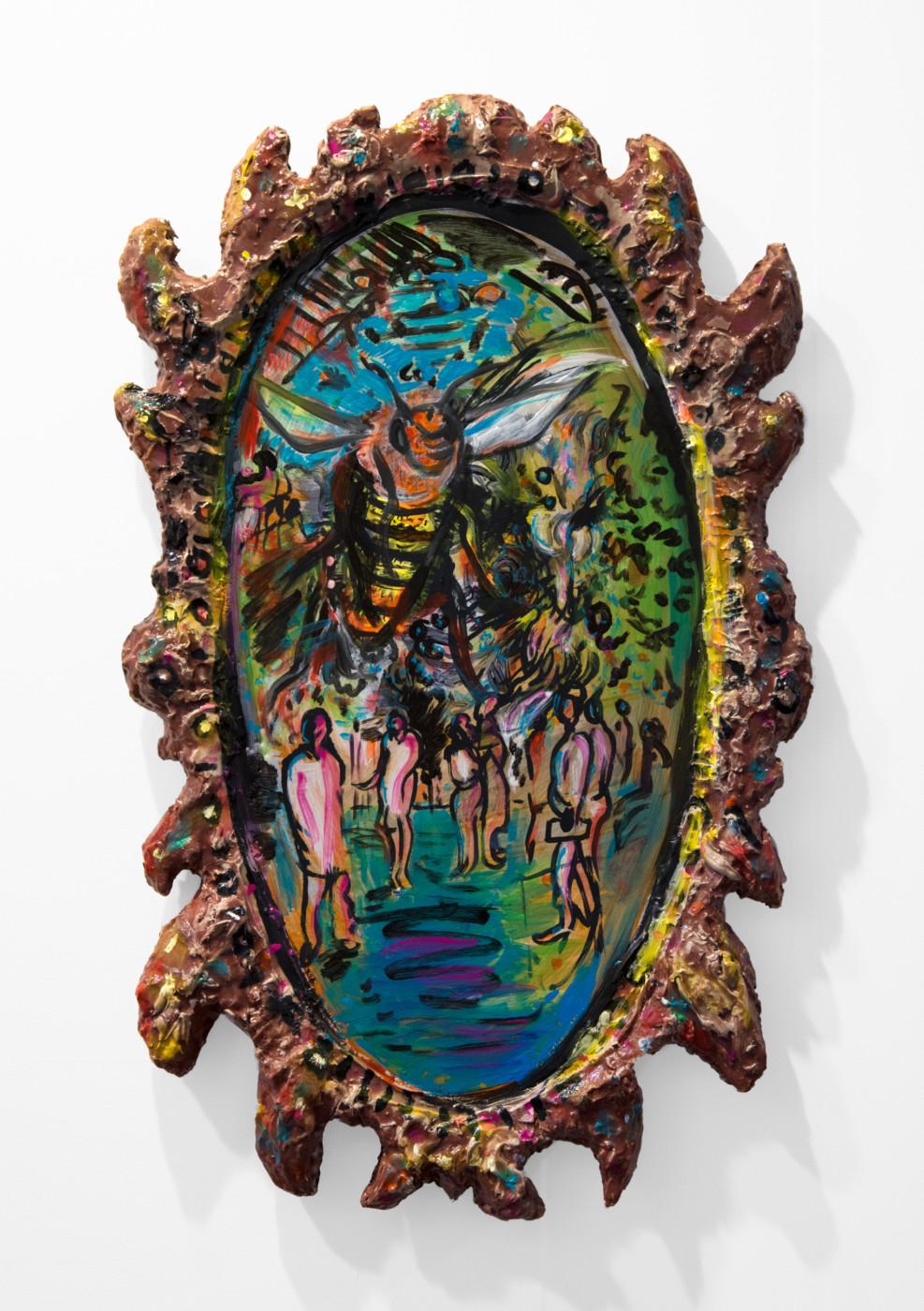 JOHN RUSSELL  WASP , 2018 Acrylic on fiberglass 119 x 73 x 9 cm / 46 7/8 x 28 3/4 x 3 1/2 in - High Art Gallery Paris