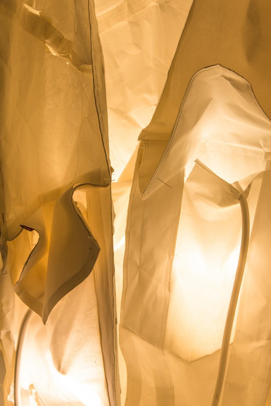 SORRY  My Shape</I> (detail), 2018 Paper, lights, thread, steel, paint 115 x 120 x 70 cm / 45.3 x 47.2 x 27.6 in  MÉLANIE MATRANGA