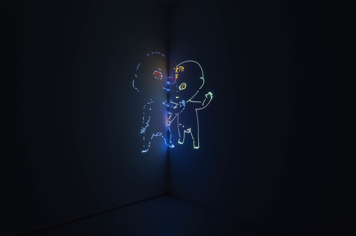 MATT COPSON  Coming of Age,  2020 High Art, Paris, France 3 part color laser projection with sound 18'00'', looped - High Art Gallery Paris