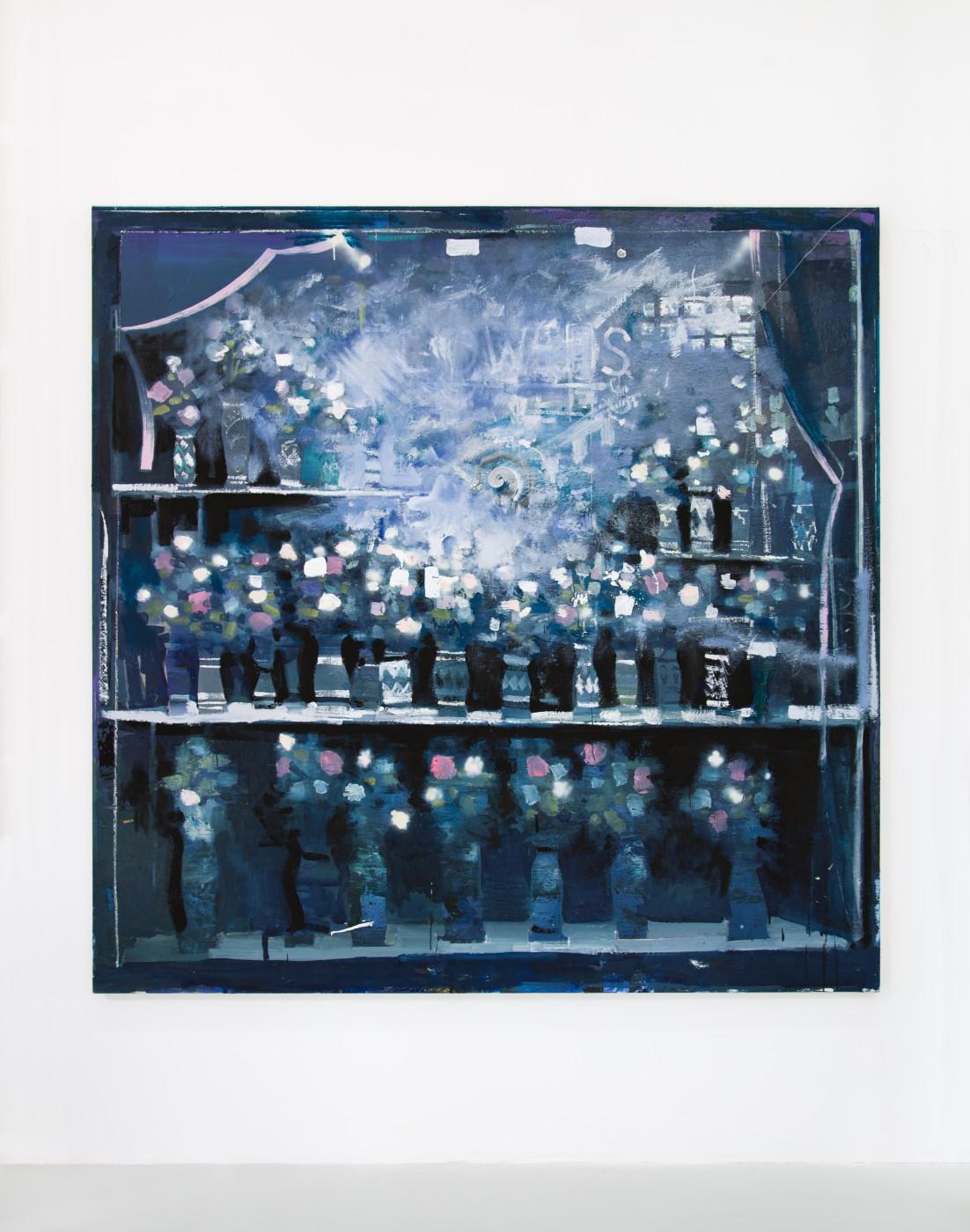 WALLFLOWERS, MALFLOWERS  Daybreak #1 , 2018  Oil on canvas  195,6 × 183 cm / 77 × 72 in   Nathan Zeidman