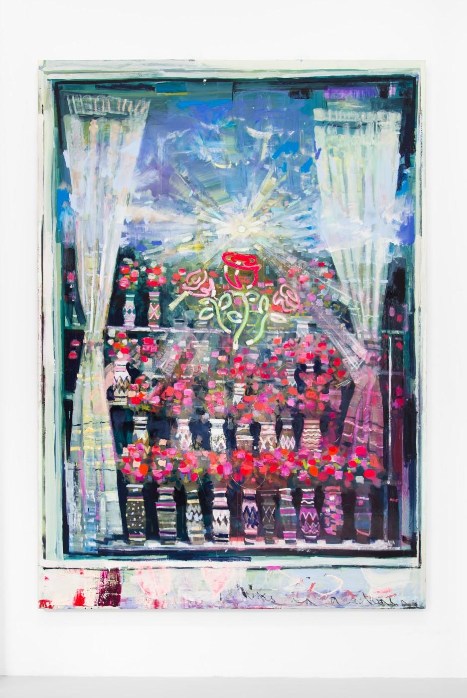 WALLFLOWERS, MALFLOWERS  Daybreak #4 , 2018  Oil on canvas   243,8 × 172,7 cm / 96 × 68 in  Nathan Zeidman