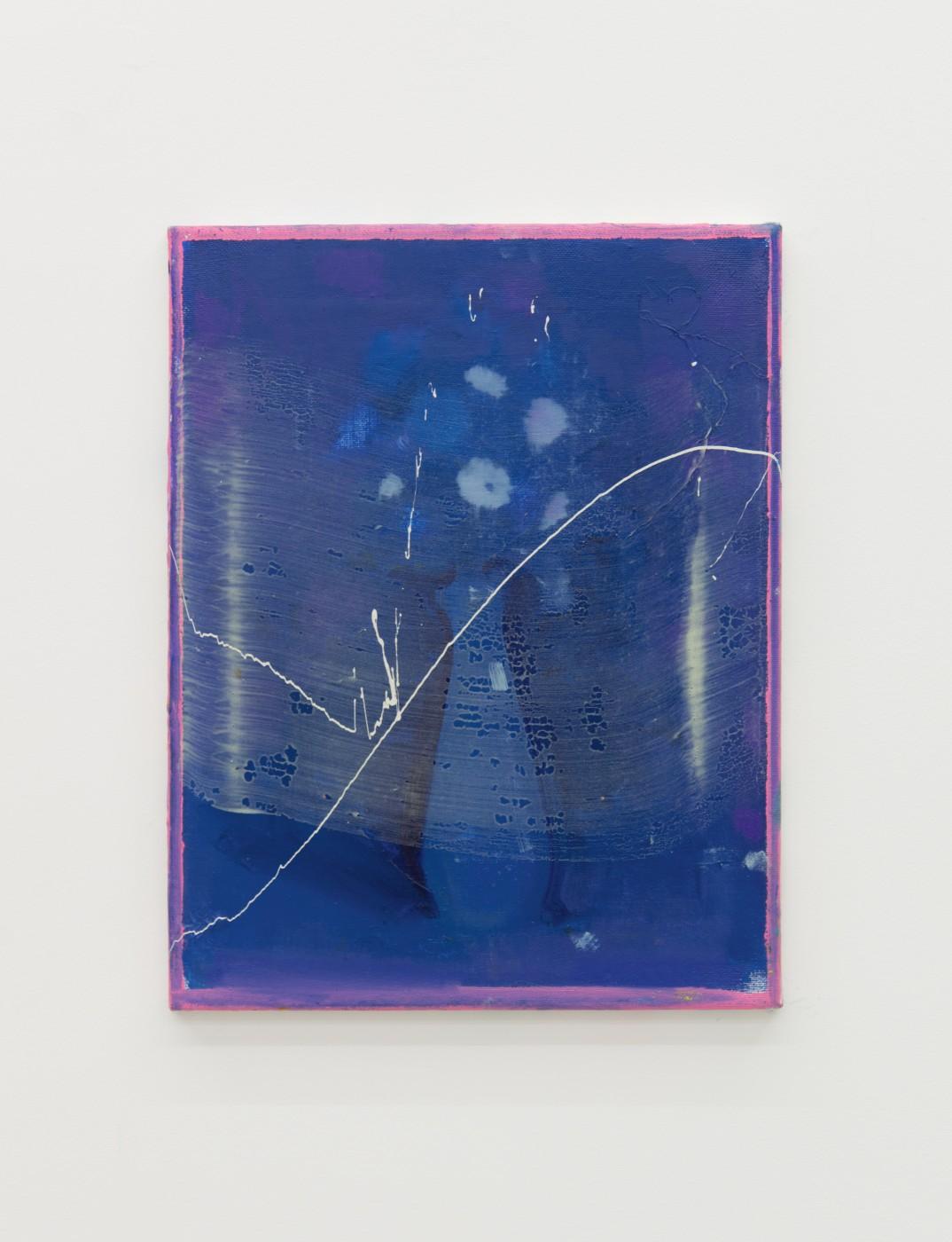 WALLFLOWERS, MALFLOWERS  Small Flower 1 , 2018  Oil on canvas  35 x 27,5 cm / 14 x 11 in  Nathan Zeidman