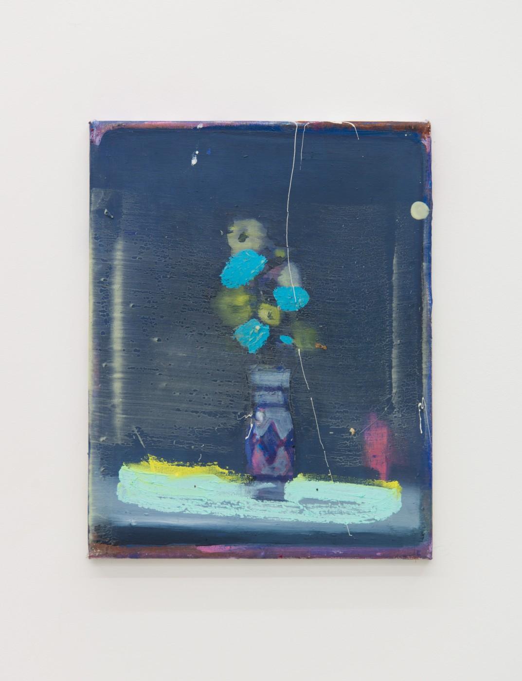 WALLFLOWERS, MALFLOWERS  Small Flower 3 , 2018  Oil on canvas  35 x 27,5 cm / 14 x 11 in  Nathan Zeidman