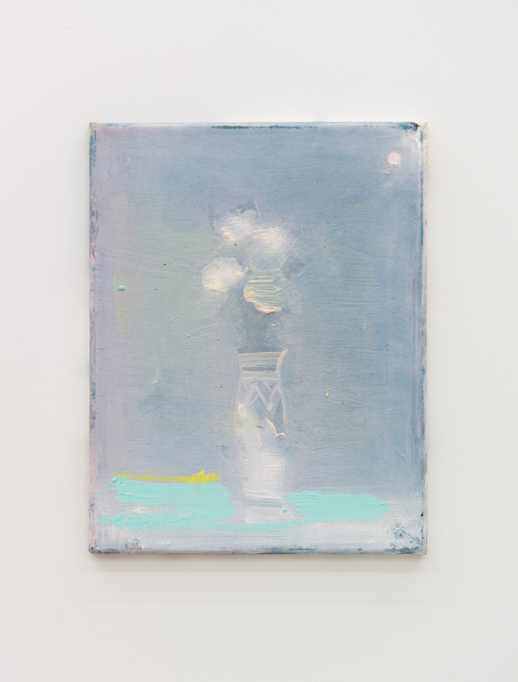 WALLFLOWERS, MALFLOWERS  Small Flower 9 , 2018  Oil on canvas   35 x 27,5 cm / 14 x 11 in  Nathan Zeidman