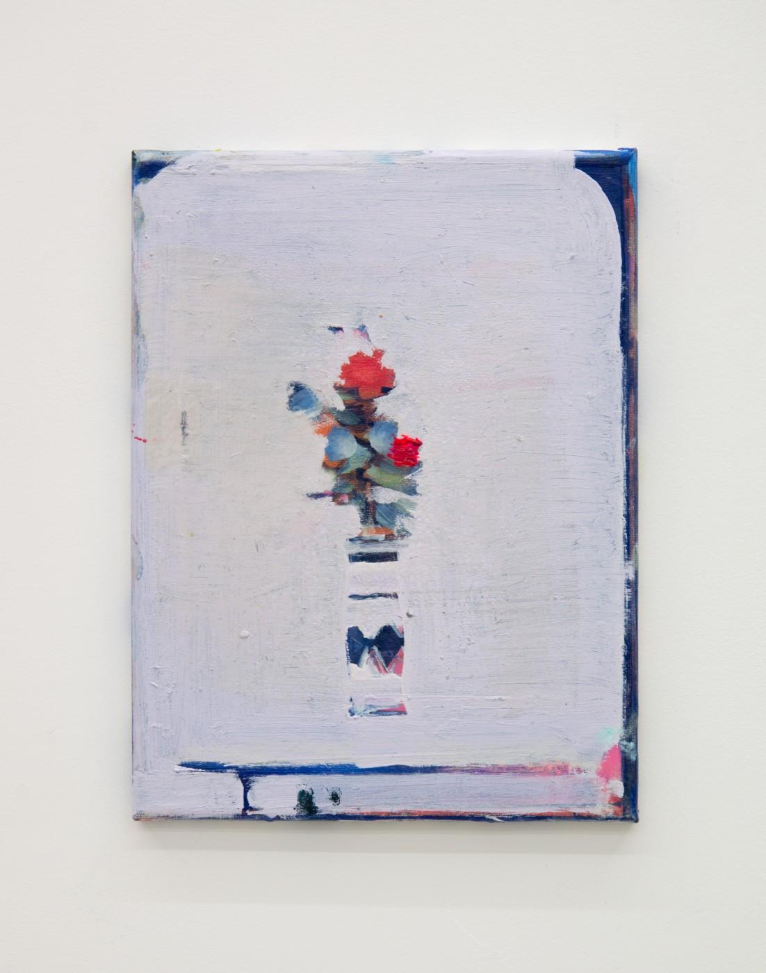 WALLFLOWERS, MALFLOWERS  Small flower 14 , 2018  Oil on canvas   35 x 27,5 cm / 14 x 11 in  Nathan Zeidman