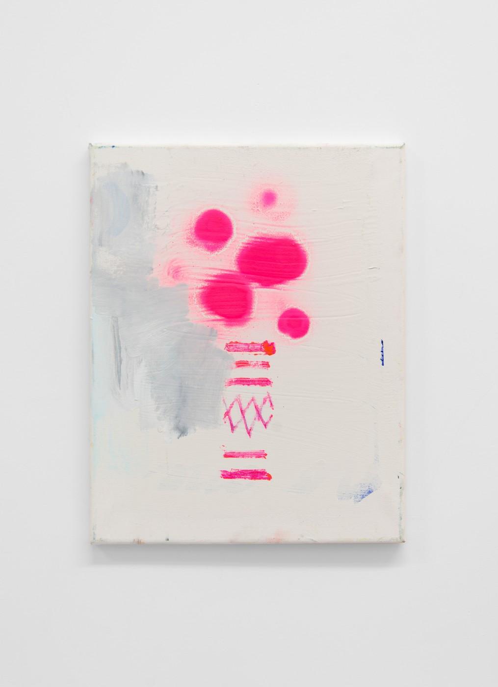 WALLFLOWERS, MALFLOWERS  Small flower 35 , 2018  Oil on canvas   35 x 27,5 cm / 14 x 11 in  Nathan Zeidman
