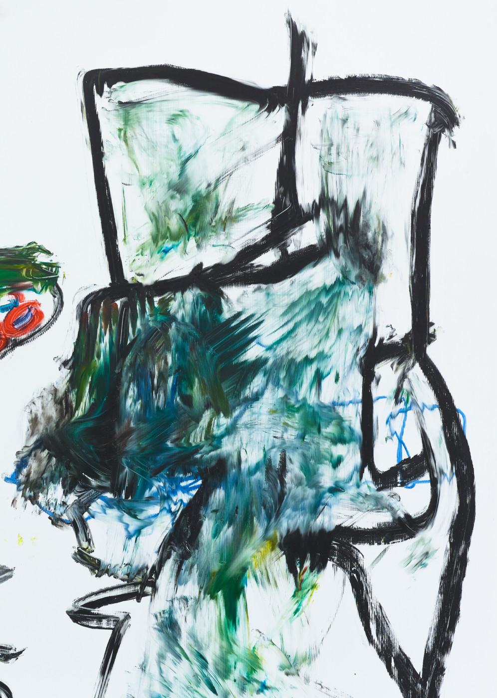 AARON GARBER-MAIKOVSKA  Untitled  (detail), 2018  Oil on fluted polyboard in artist frame  228,6 x 203,2 cm / 90 x 80 in  Aaron Garber-Maikovska