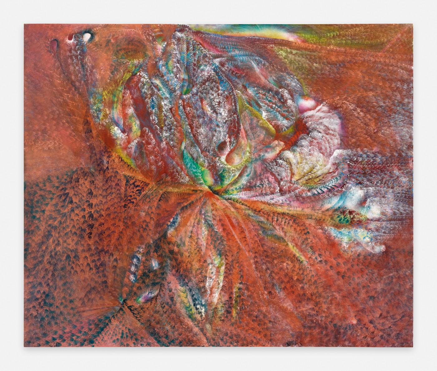 FIRST MEETINGS  Stellar Head , 2019 Oil on canvas 127 x 152,5 x 4 cm / 50 x 60 x 1.5 in - High Art Gallery Paris