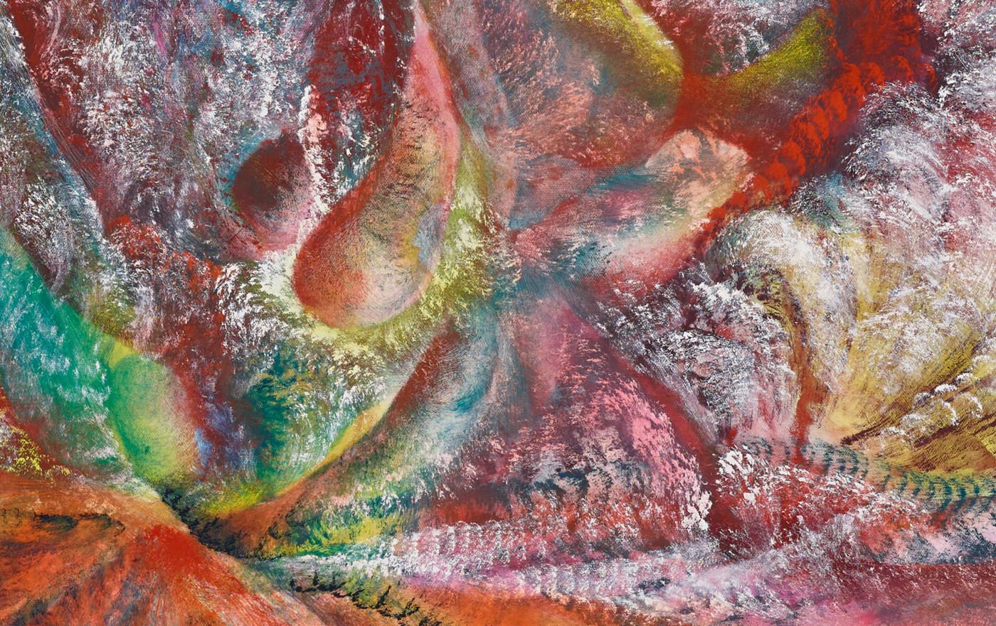 FIRST MEETINGS  Stellar Head  (detail), 2019 Oil on canvas 127 x 152,5 x 4 cm / 50 x 60 x 1.5 in - High Art Gallery Paris