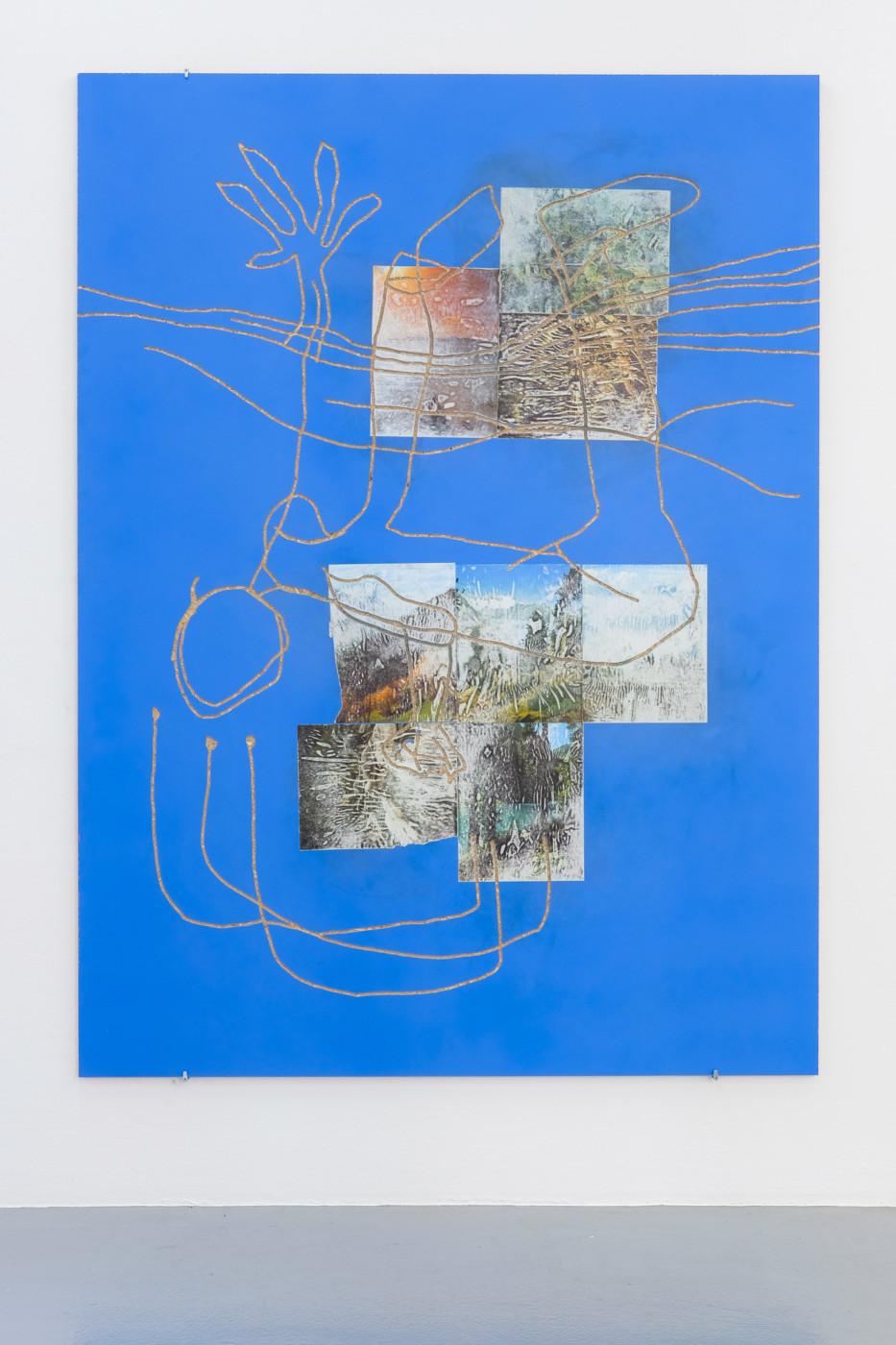 JULIEN CREUZET  Il pleut encore, des minis gouttelettes (...) , 2019 Hand etched mdf, pigment, paper 190 x 140 cm / 74.8 x 55.1 in - High Art Gallery Paris